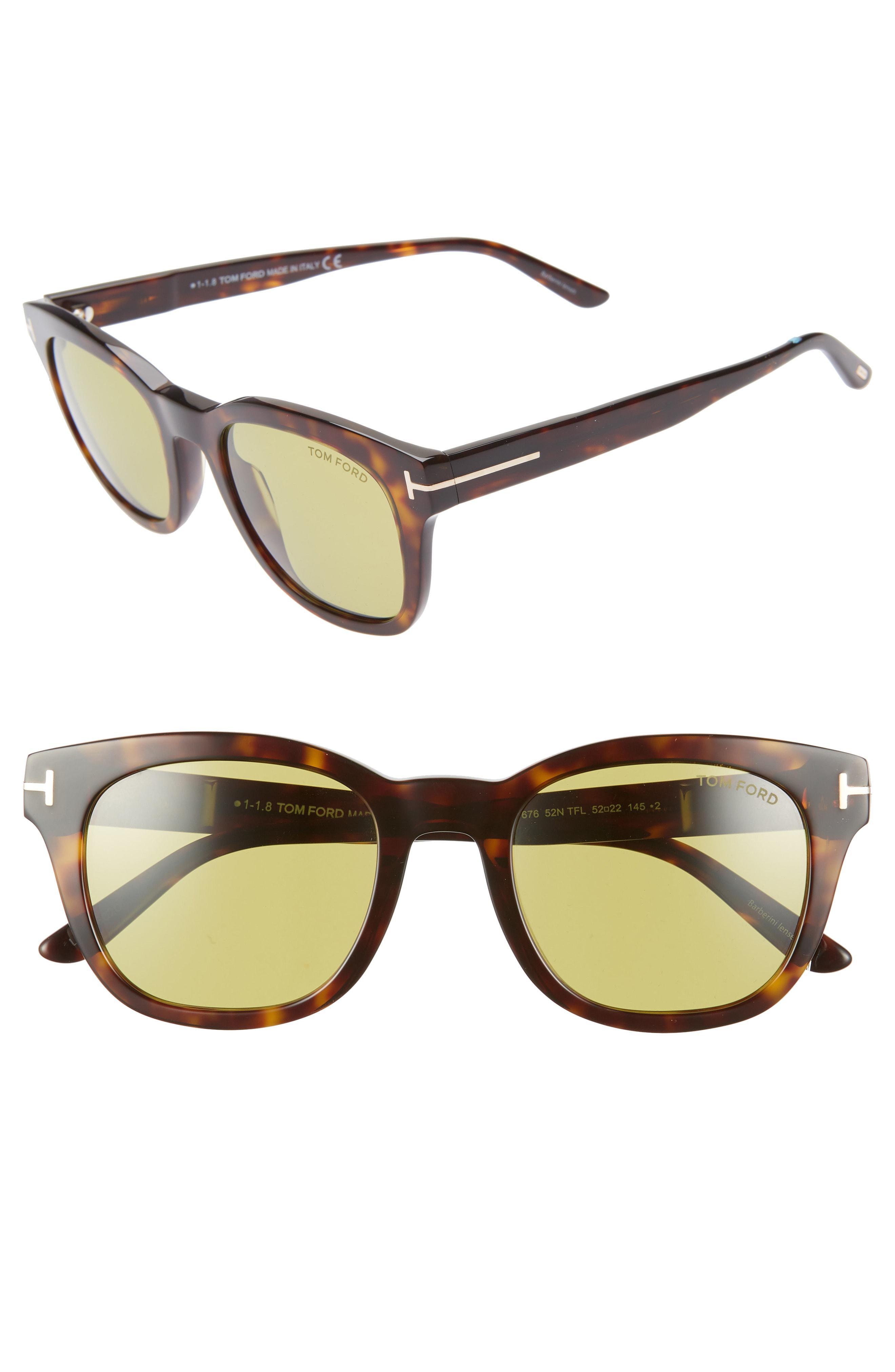 22d96cfdf8 Tom Ford - Eugenio 52mm Sunglasses - Dark Havana  Green - Lyst. View  fullscreen