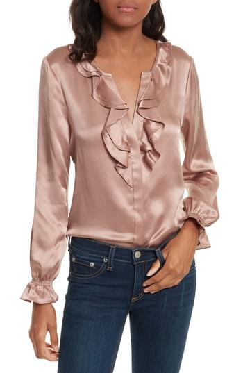 4614a6d01e6cd1 Lyst - Joie Jayanne B Silk Blouse in Pink