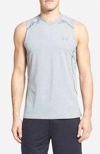 a1e743d845231 Lyst - Under Armour  raid  Heatgear Fitted Tank Top in Gray for Men