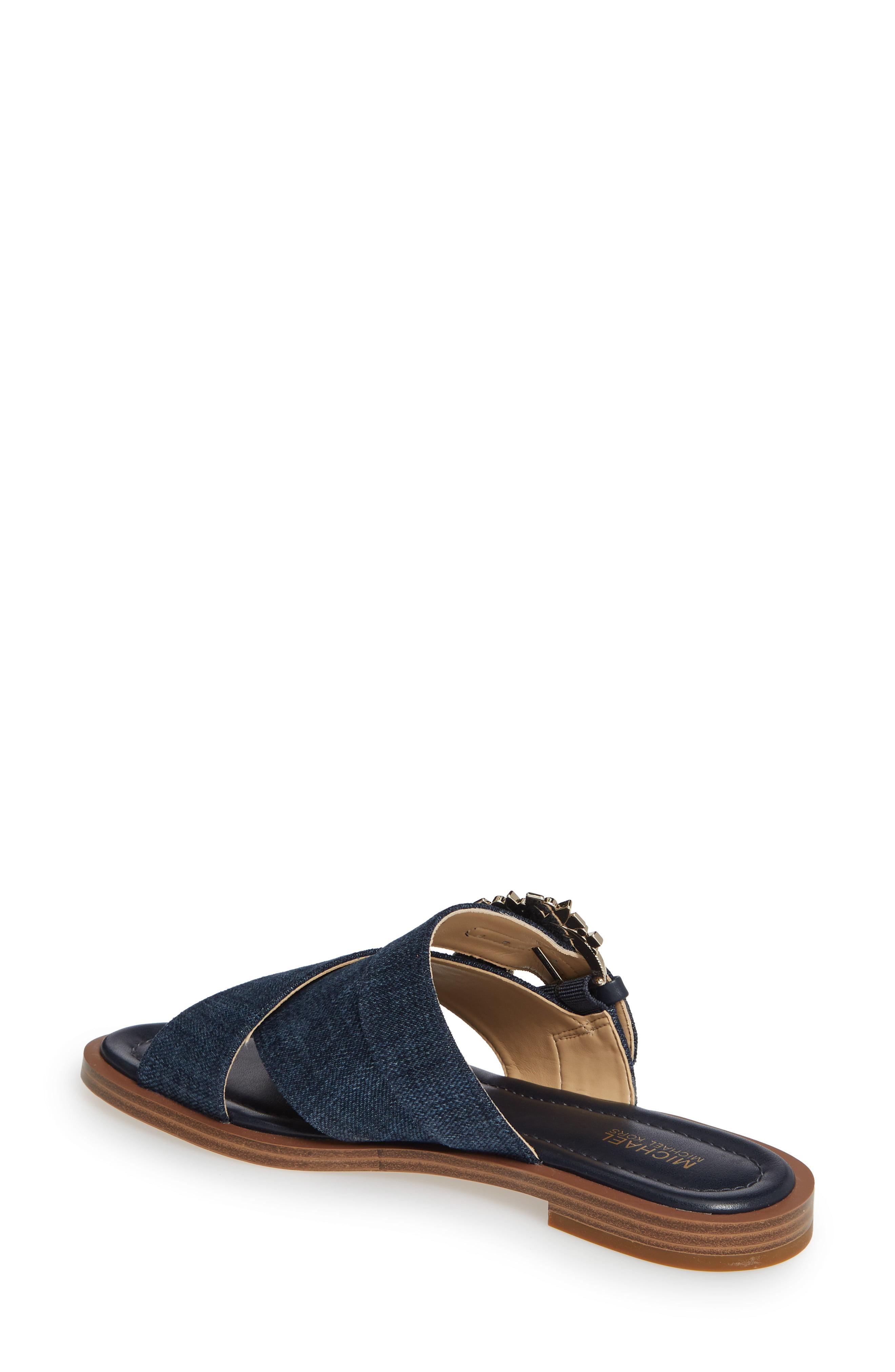 946f9e31a126 MICHAEL Michael Kors - Blue Frieda Slide (indigo Denim) Women s Shoes -  Lyst. View fullscreen