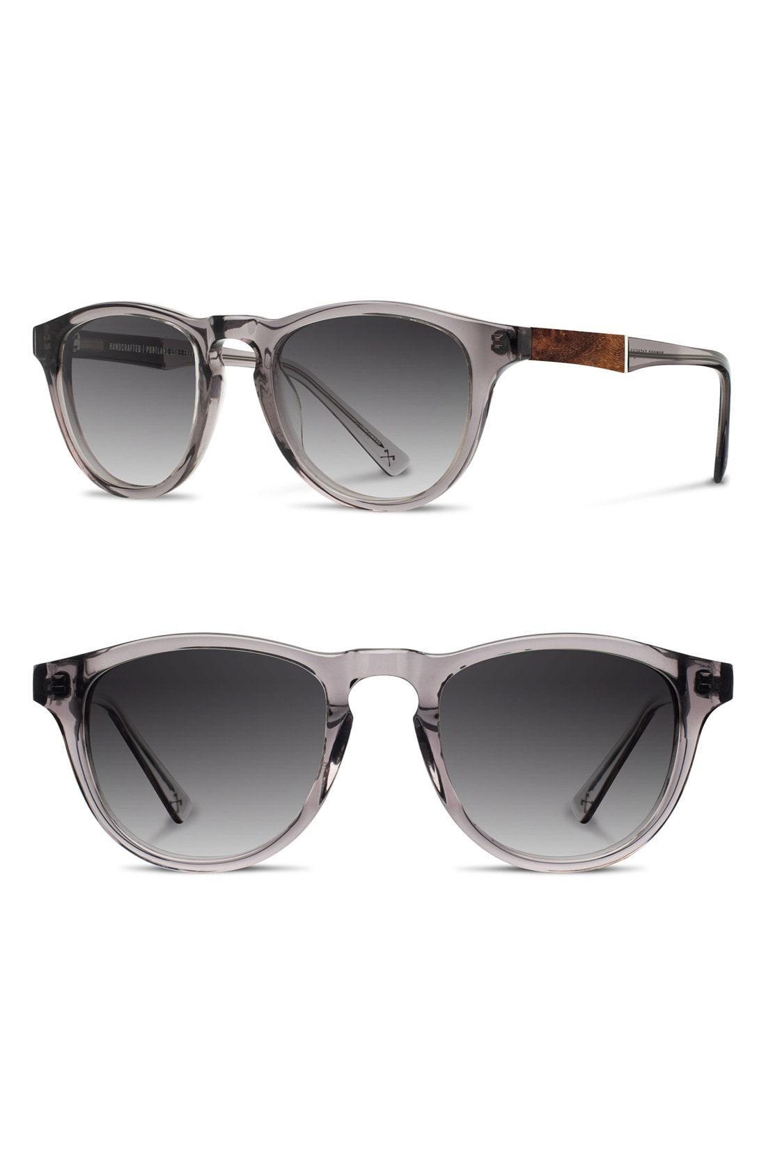 f3fedd812221 Lyst - Shwood  francis  49mm Sunglasses - Smoke  Elm Burl  Grey in ...
