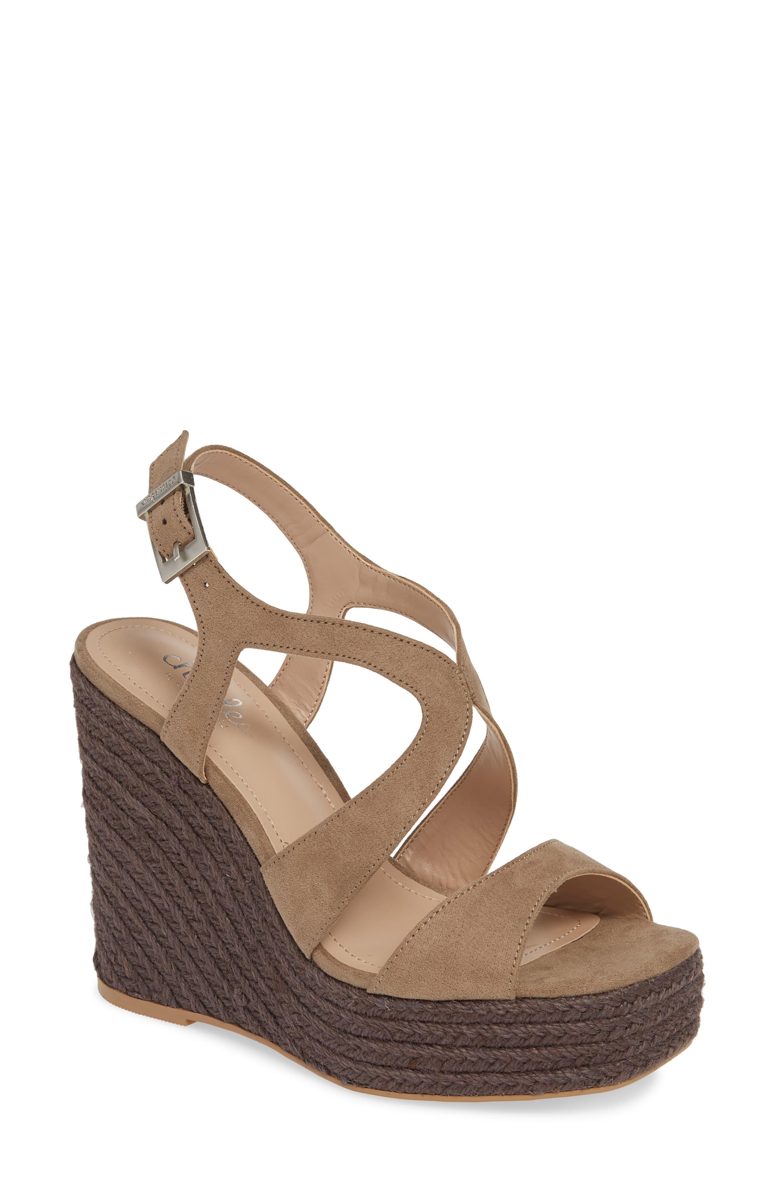 579220fa6ee Women's Brown Damon Platform Wedge Sandal