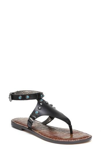 50987f69af07 Lyst - Sam Edelman Galena Studded Sandal in Black