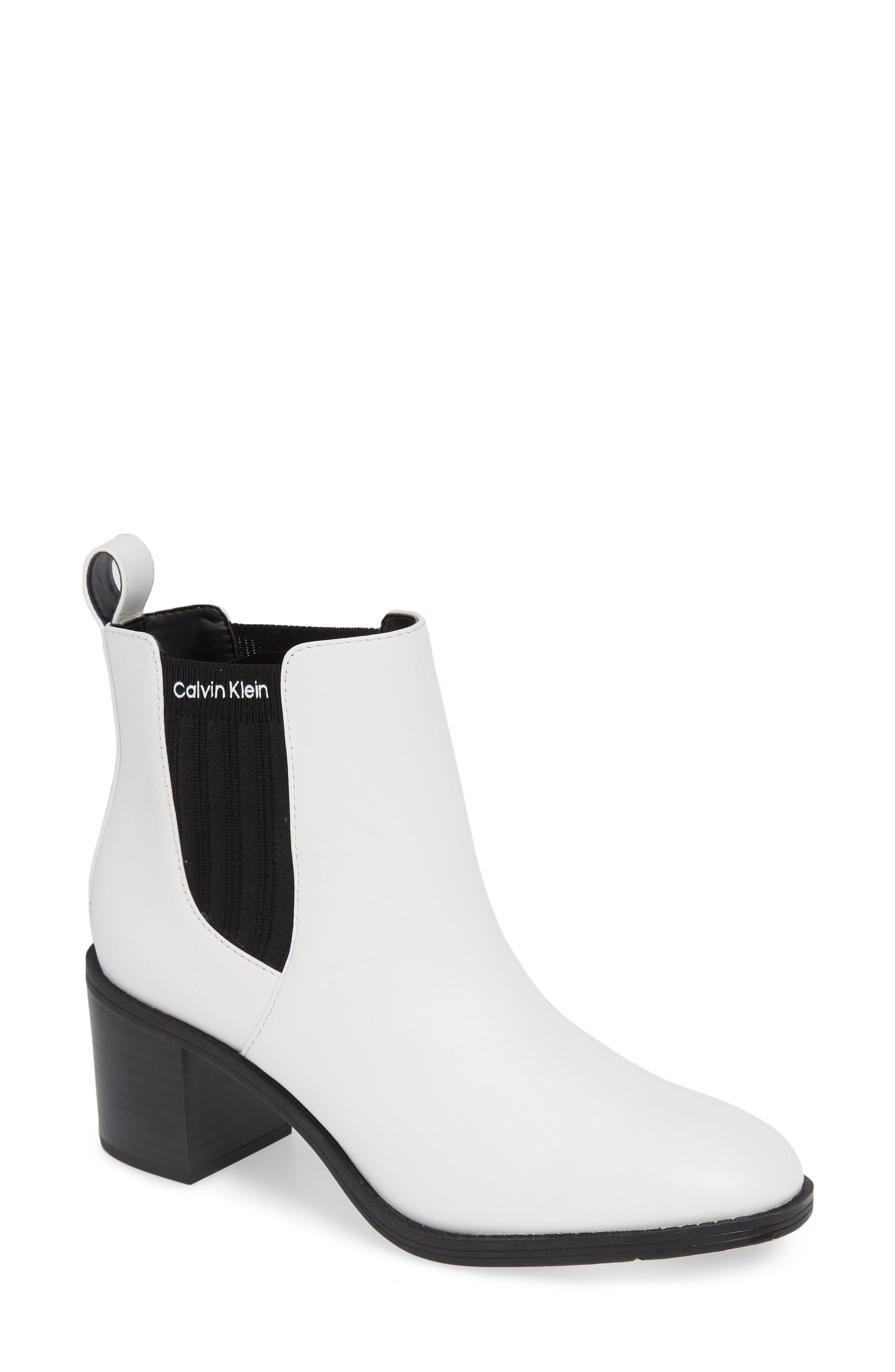 fd1f287b02e Calvin Klein - White Perron Chelsea Bootie - Lyst. View fullscreen