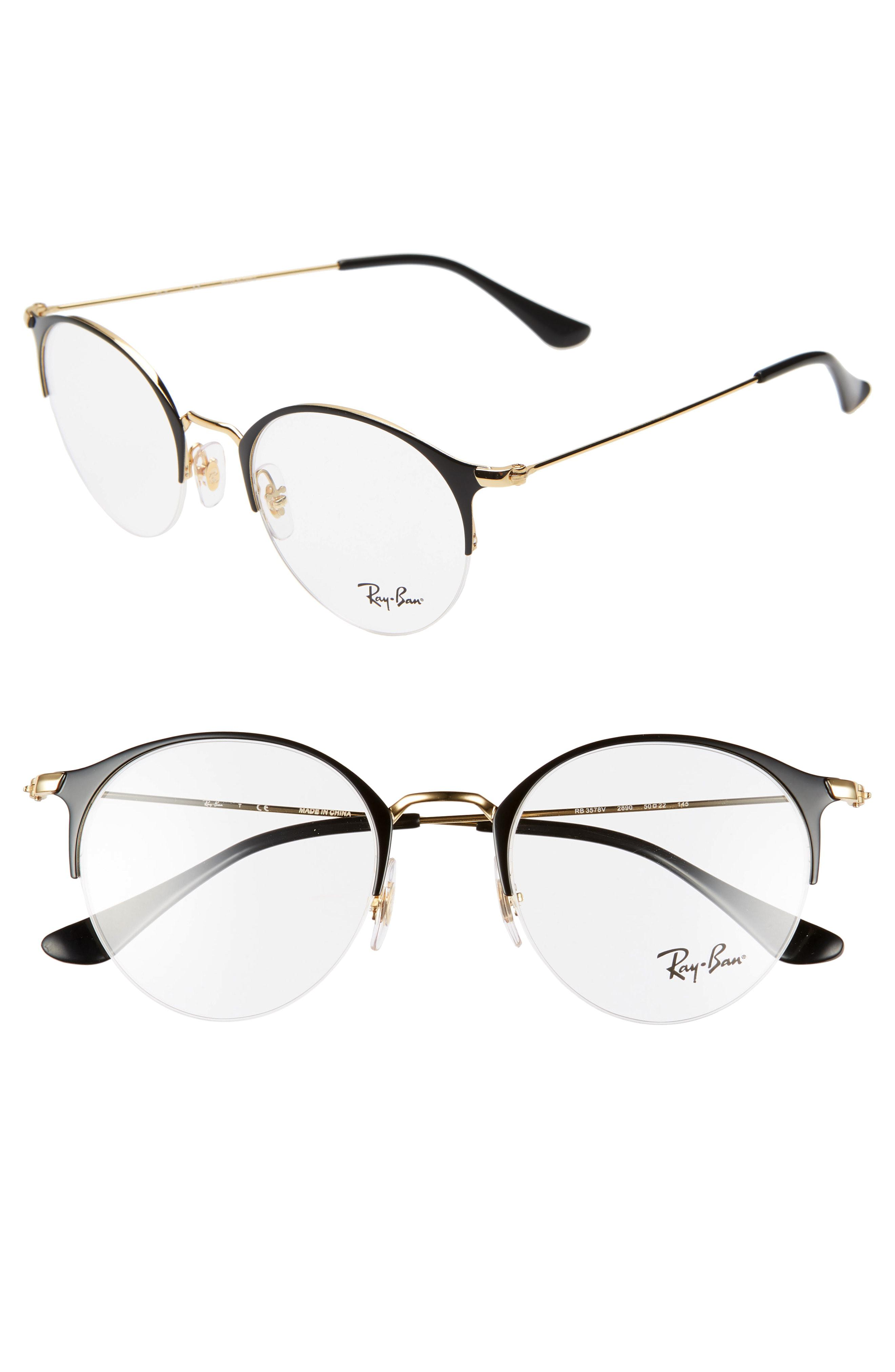 ed389db1a82 Lyst - Ray-Ban 50mm Optical Glasses - in Metallic