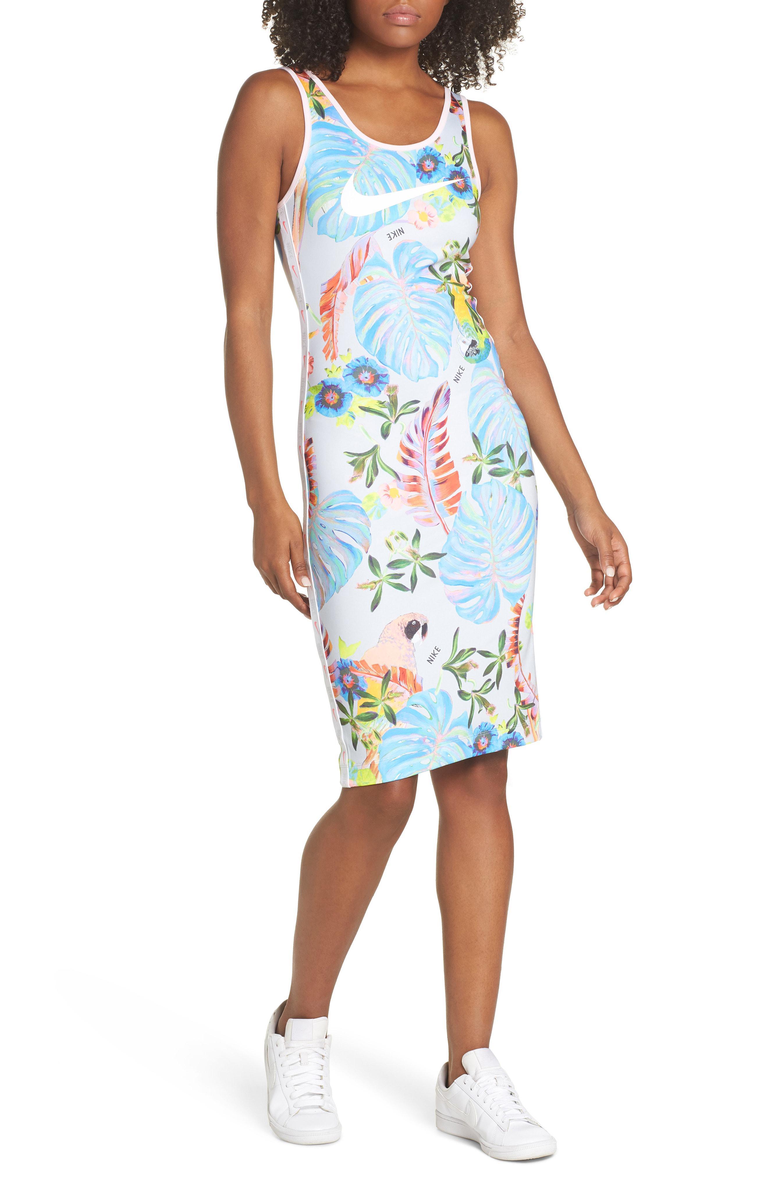 09298fc99bb Nike Sportswear Hyper Print Dress in Blue - Lyst
