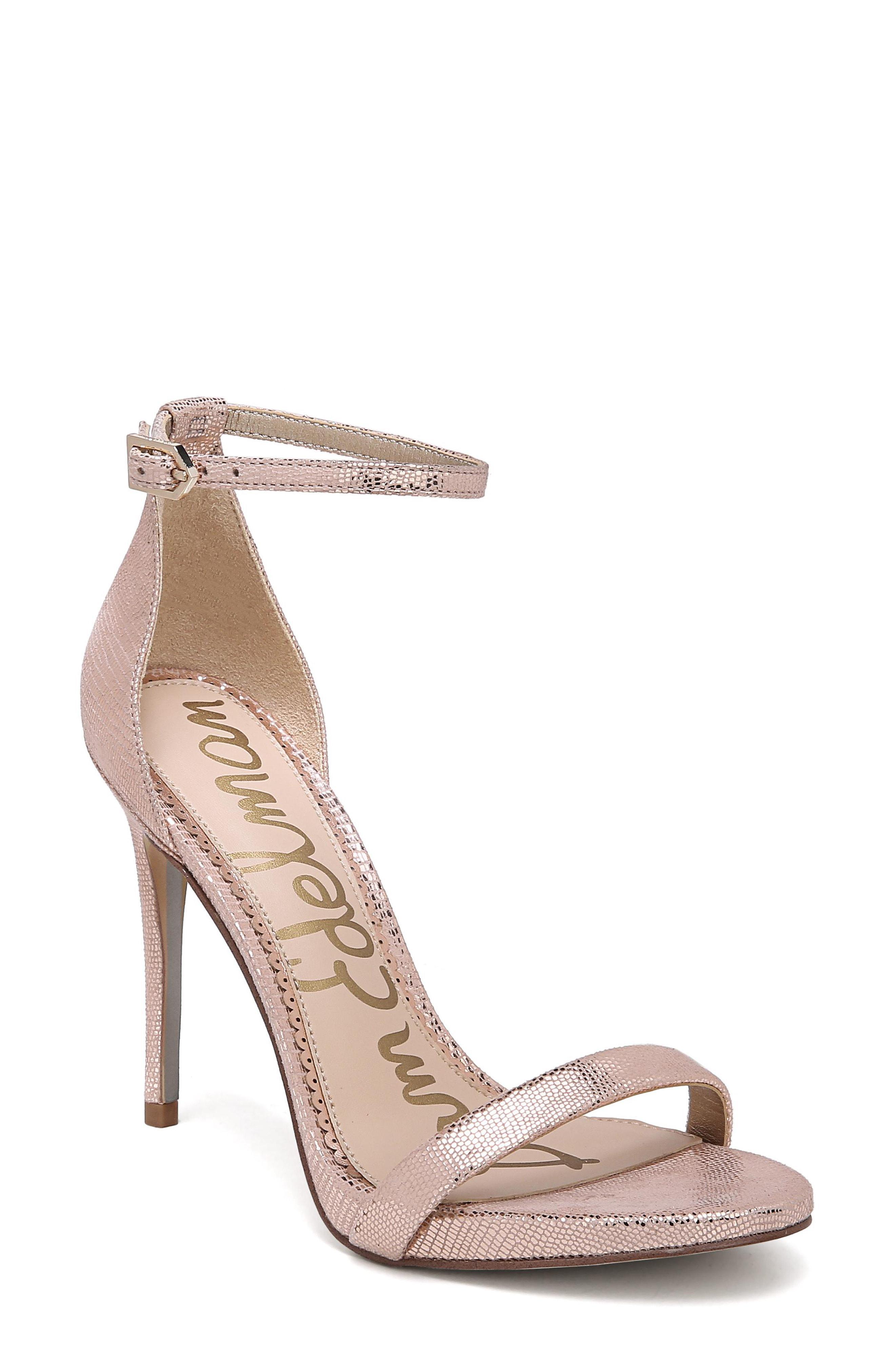 e8f543d3ef1b Lyst - Sam Edelman Ariella Ankle Strap Sandal in Natural