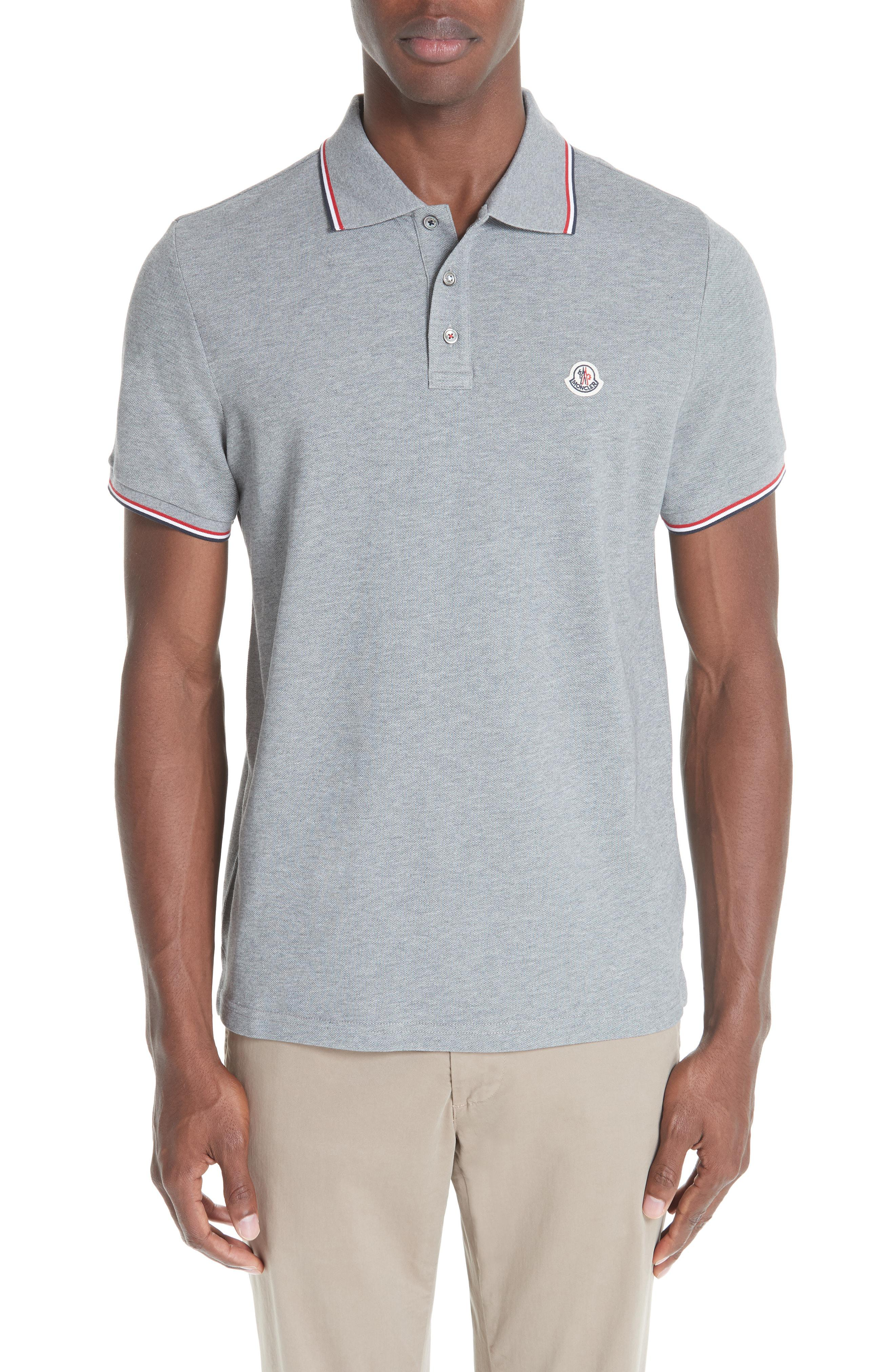 368bf6b552c2 Lyst - Moncler Maglia Pique Polo in Yellow for Men