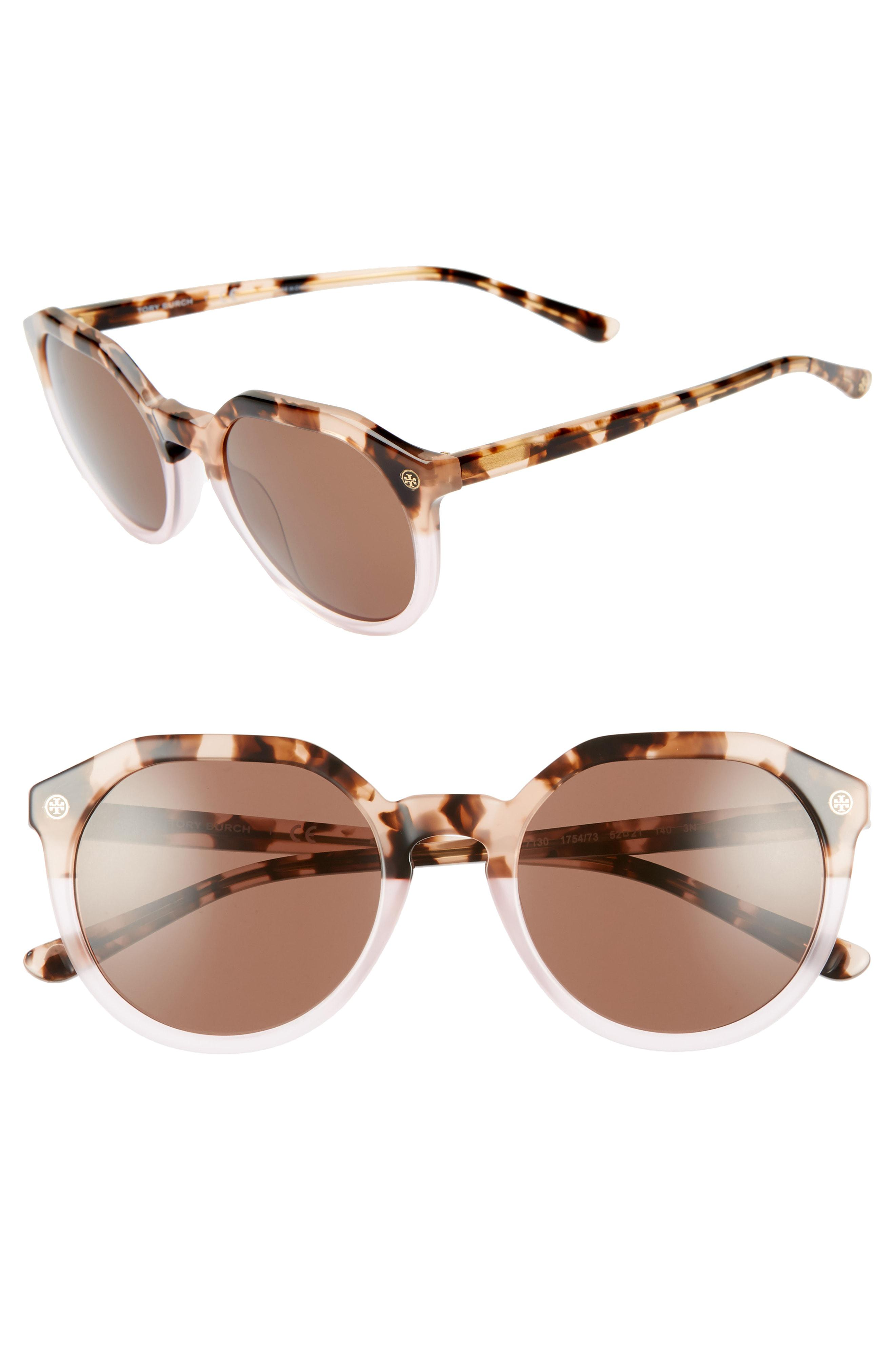563f3cbcab Lyst - Tory Burch 52mm Round Sunglasses - in Brown