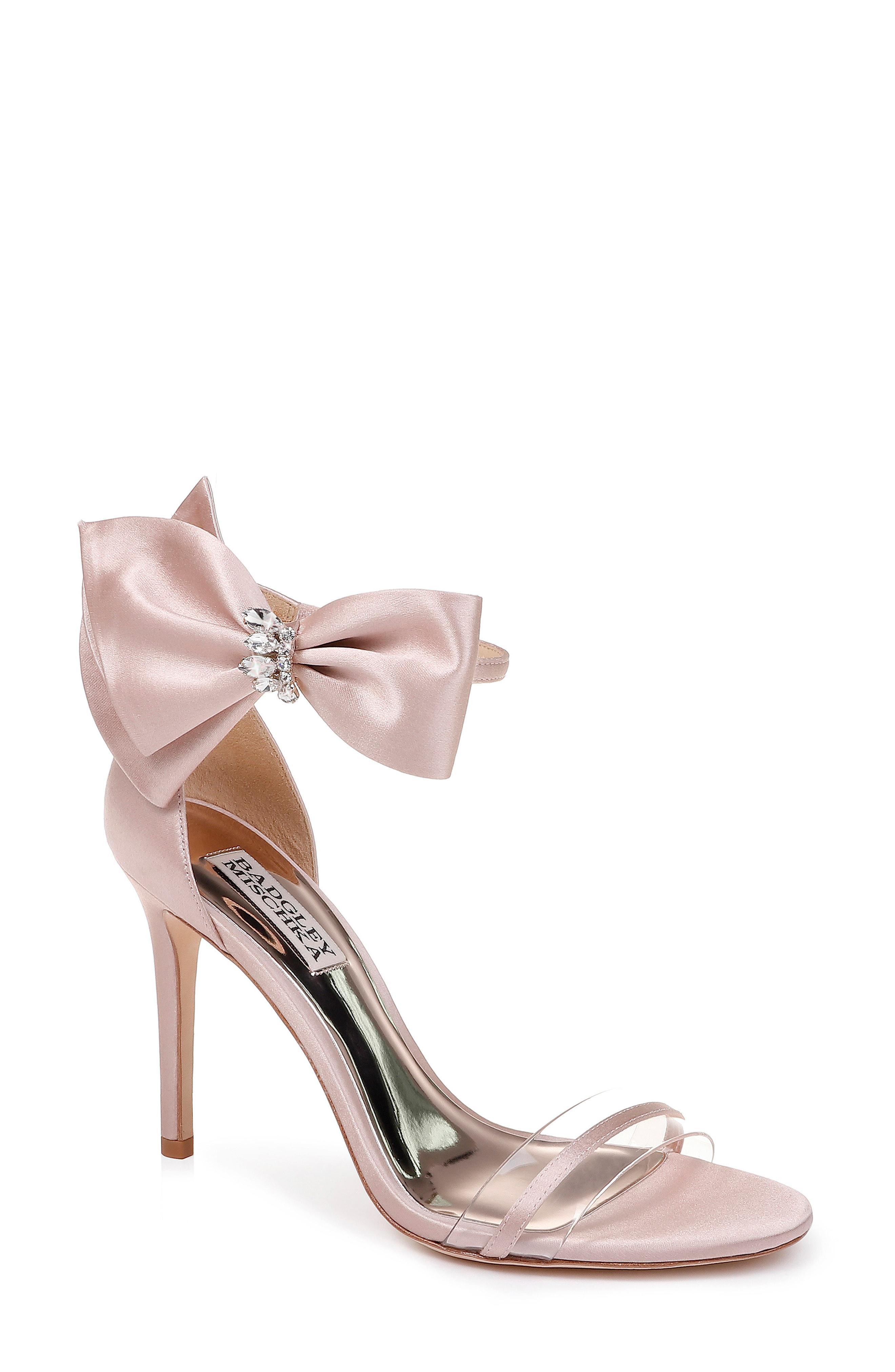 c87ae01586 Lyst - Badgley Mischka Badgley Mischka Fran Bow Ankle Strap Sandal ...