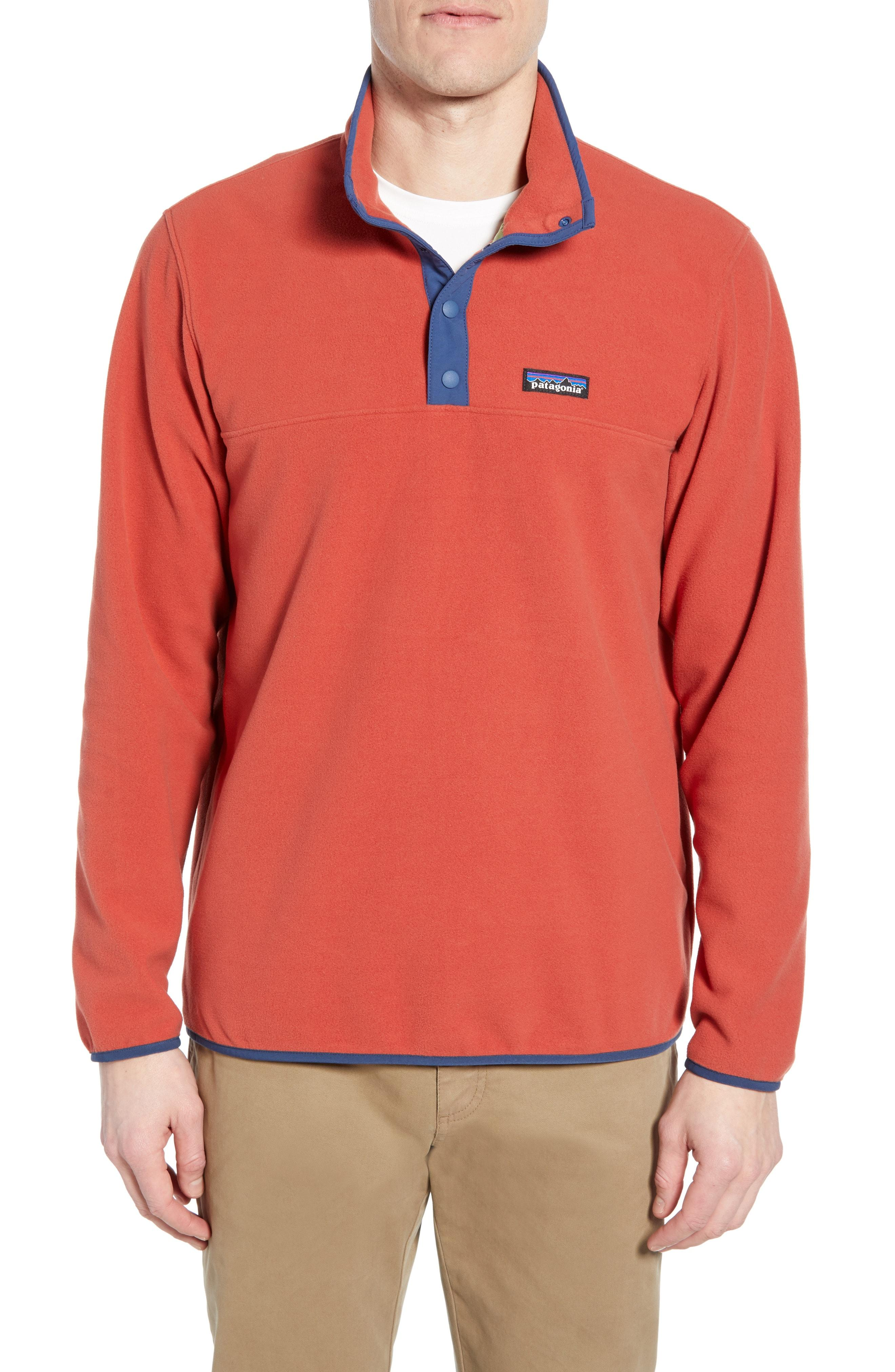 12fd5d2ef38 Patagonia - Orange Micro-d Snap-t Fleece Pullover for Men - Lyst. View  fullscreen