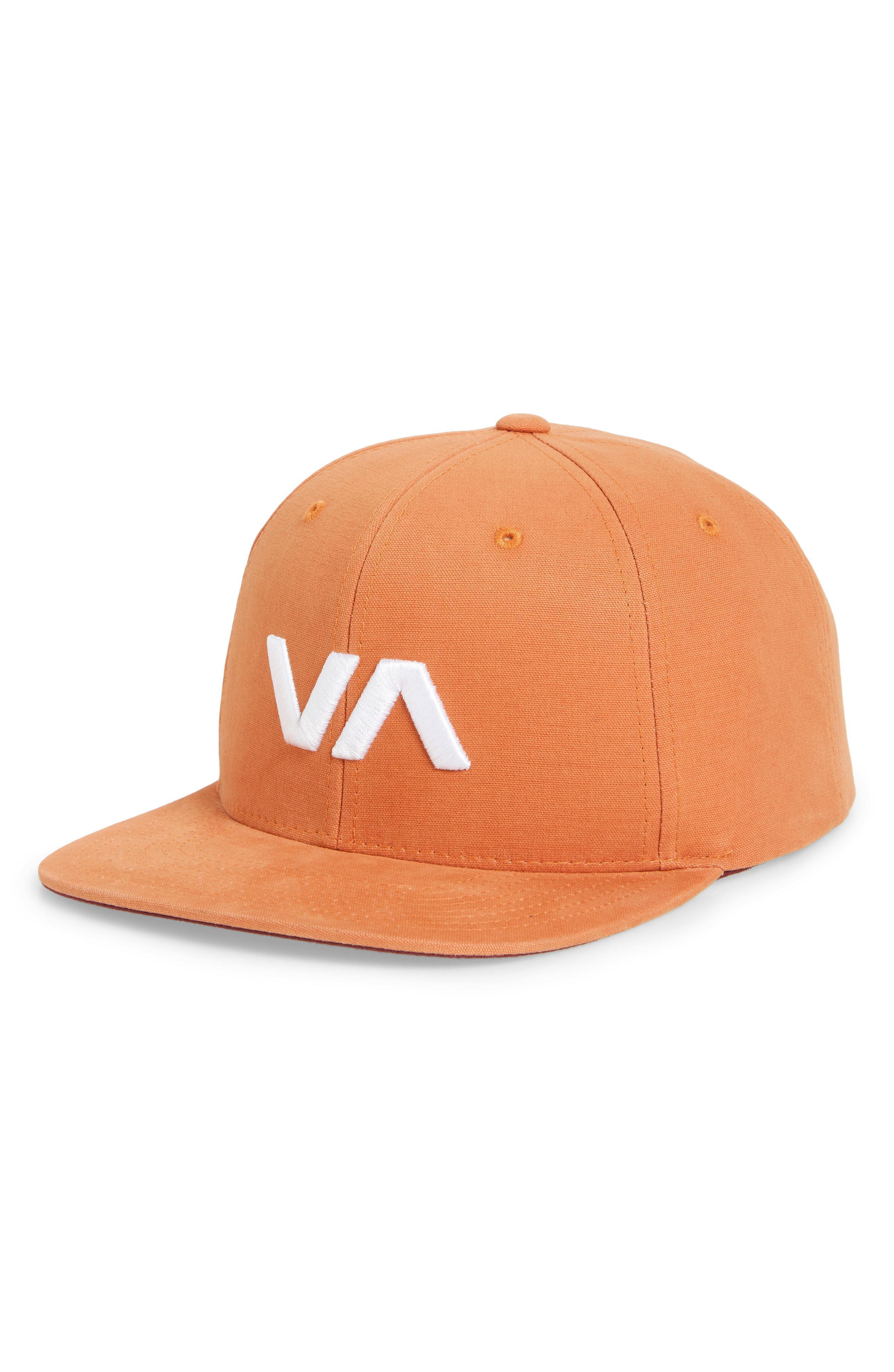 usa lyst rvca va snapback ii snapback hat in red for men 34f1f ce050 b9a4f4f515b