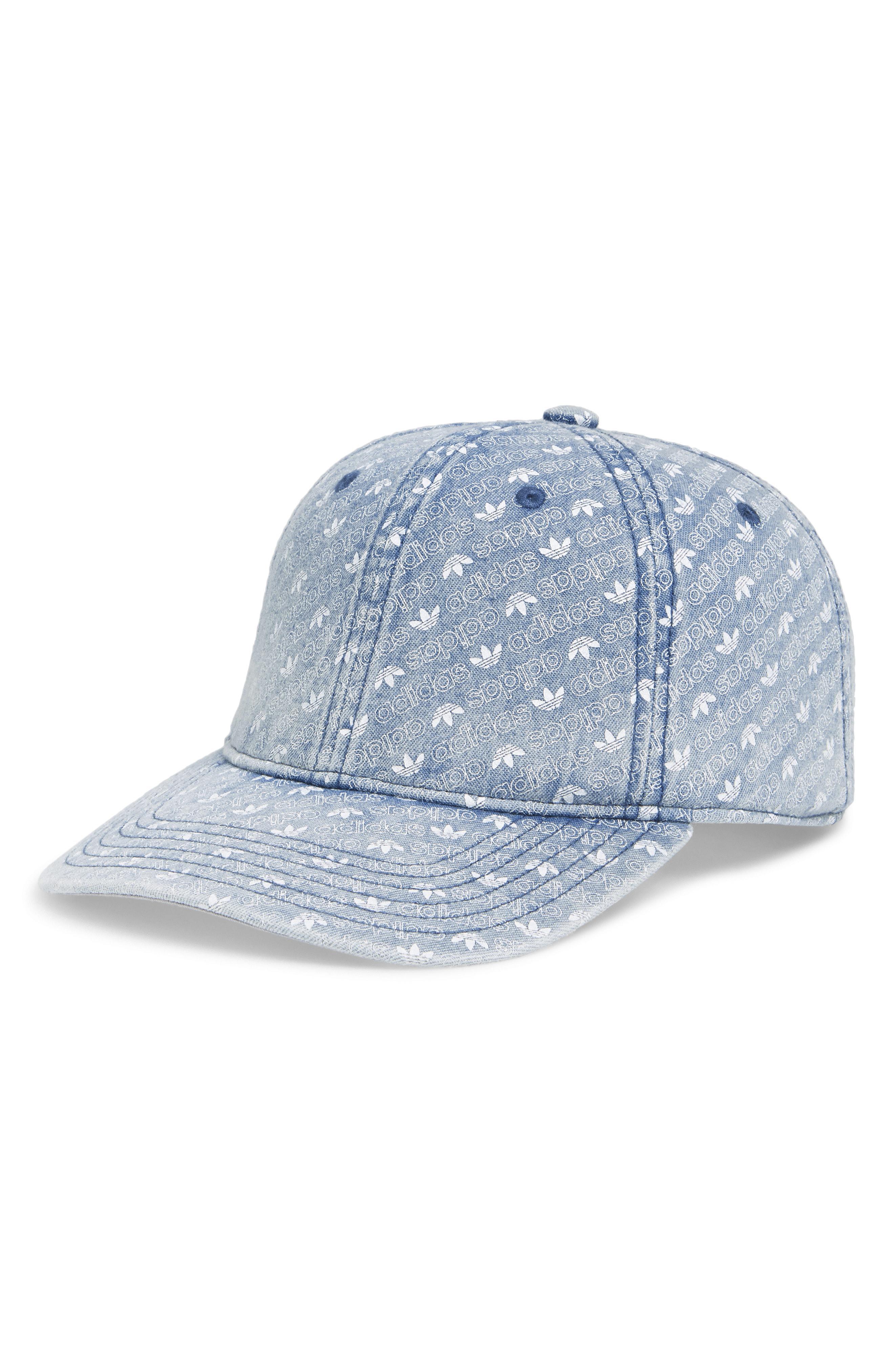 bc909544 Lyst - Adidas Originals Denim Monogram Cap in Blue for Men