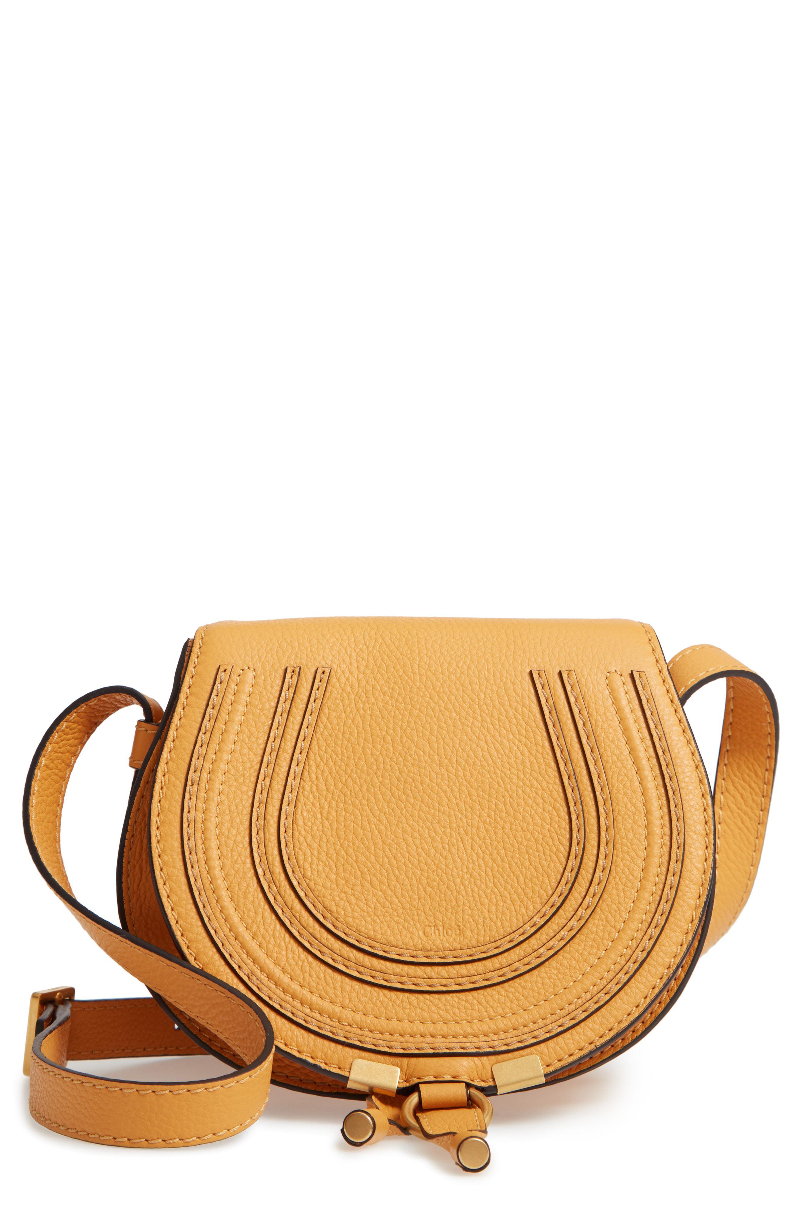 cab4a0bf Lyst - Chloé 'mini Marcie' Leather Crossbody Bag in Gray
