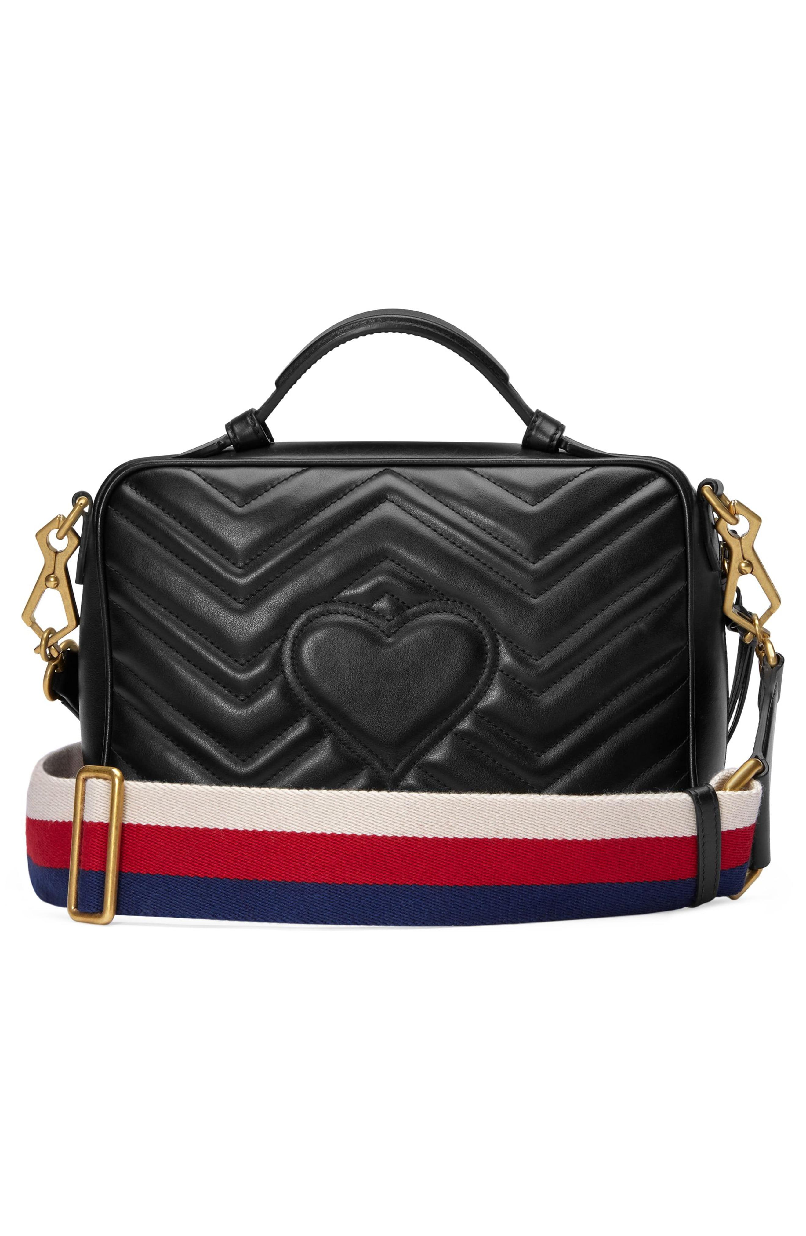 5924f006a0ee Gucci - Black Small Gg Marmont 2.0 Matelassé Leather Camera Bag With Webbed  Strap - -. View fullscreen
