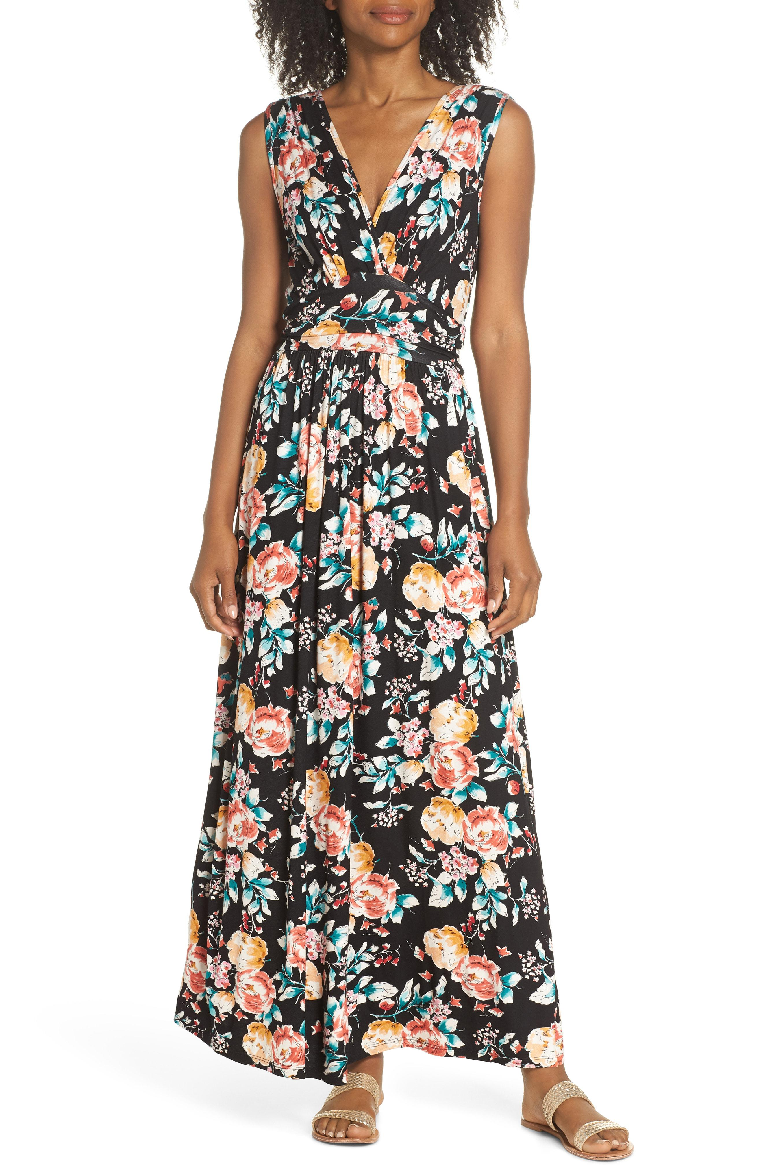 581baecd8c Fraiche By J. Women s Peony Deep V Maxi Dress