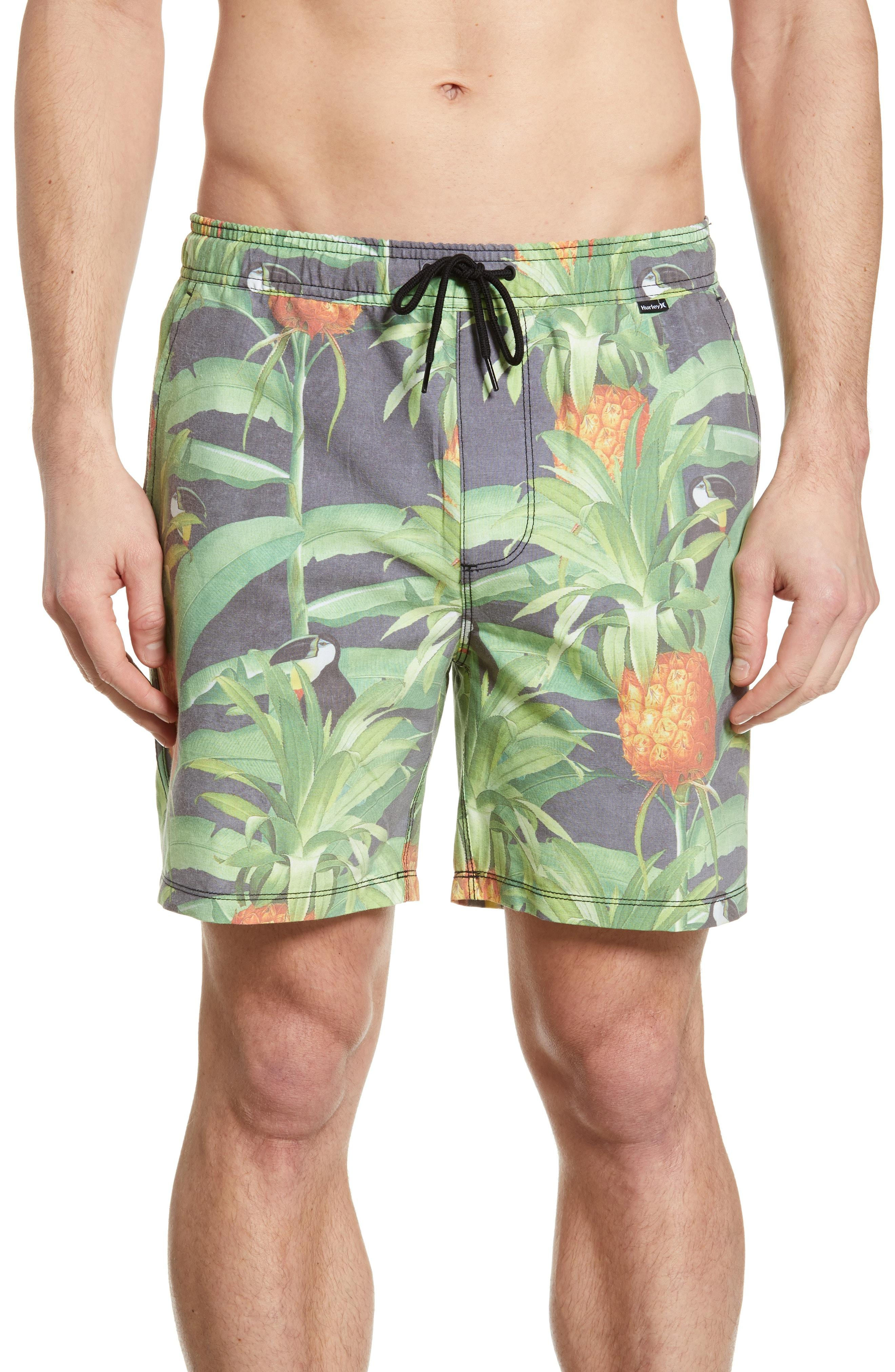 647c6a4ce2 Lyst - Hurley Costa Rica Volley Swim Trunks in Green for Men