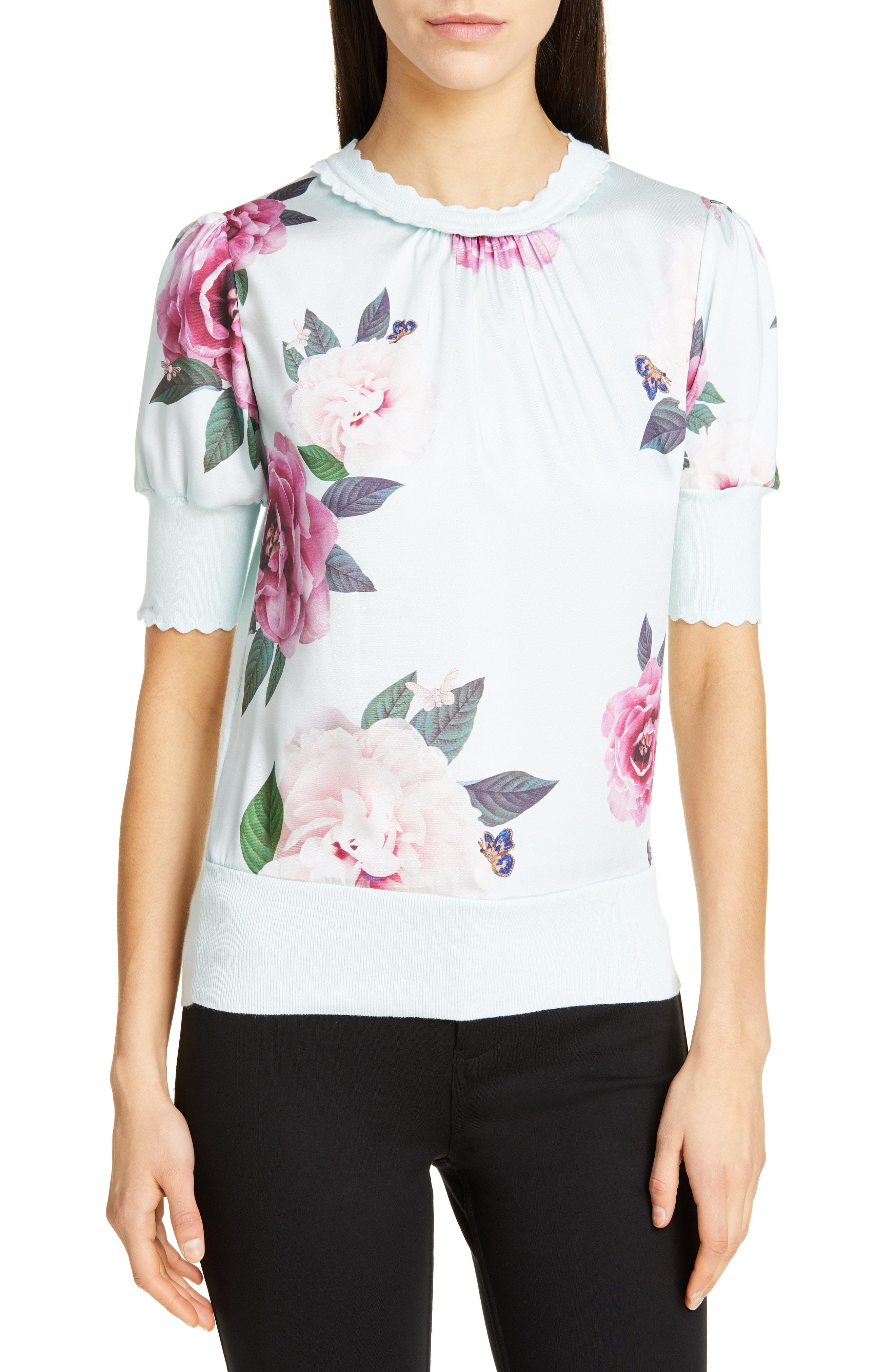 2837206a3f96f Lyst - Ted Baker Leesai Magnificent Mix Media Sweater in White