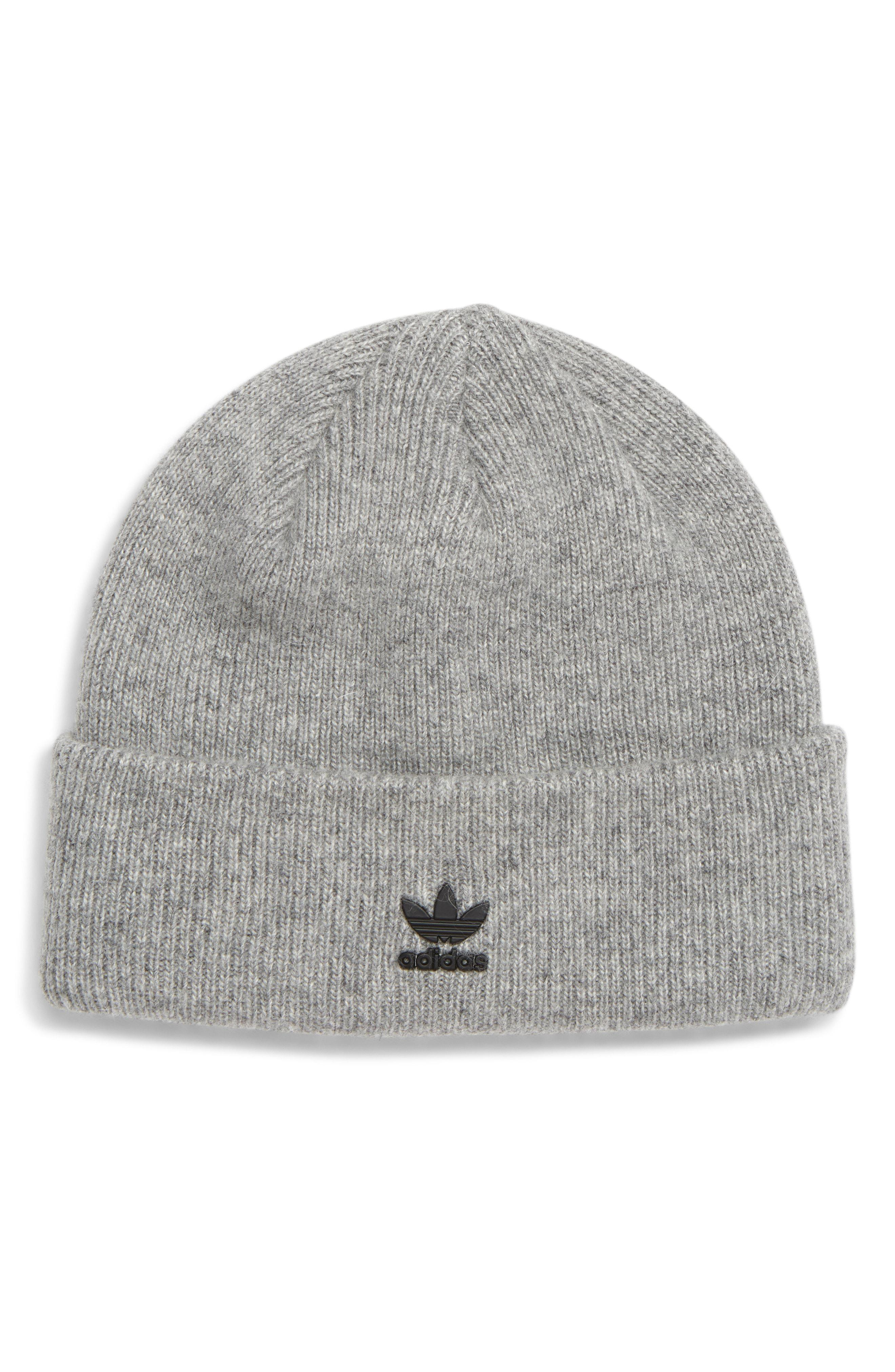 5f5ac89120999 adidas Originals Metal Trefoil Beanie - in Gray for Men - Lyst