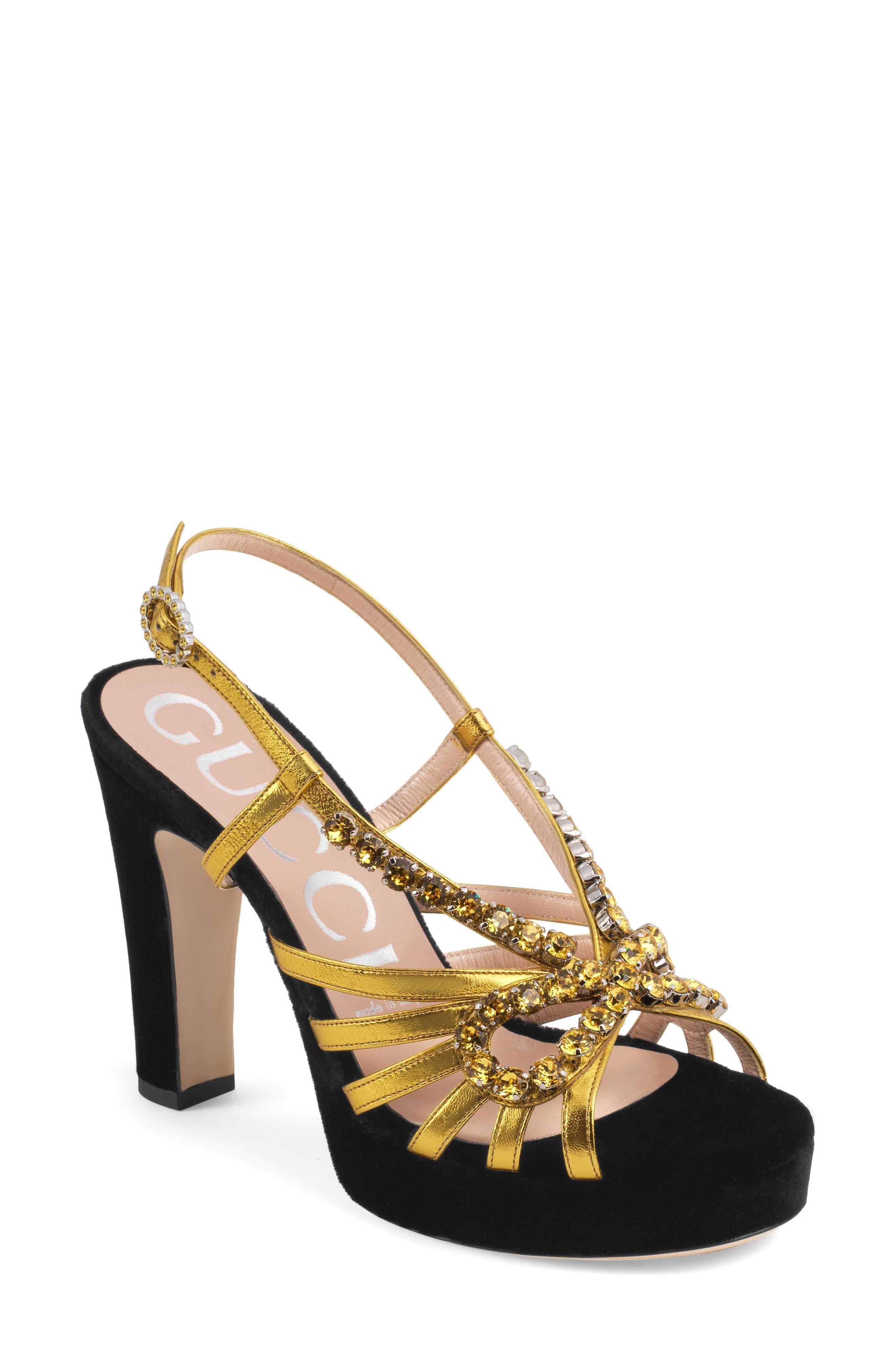 ae489e368a8 Lyst - Gucci Zephyra Jewel Sandal in Metallic