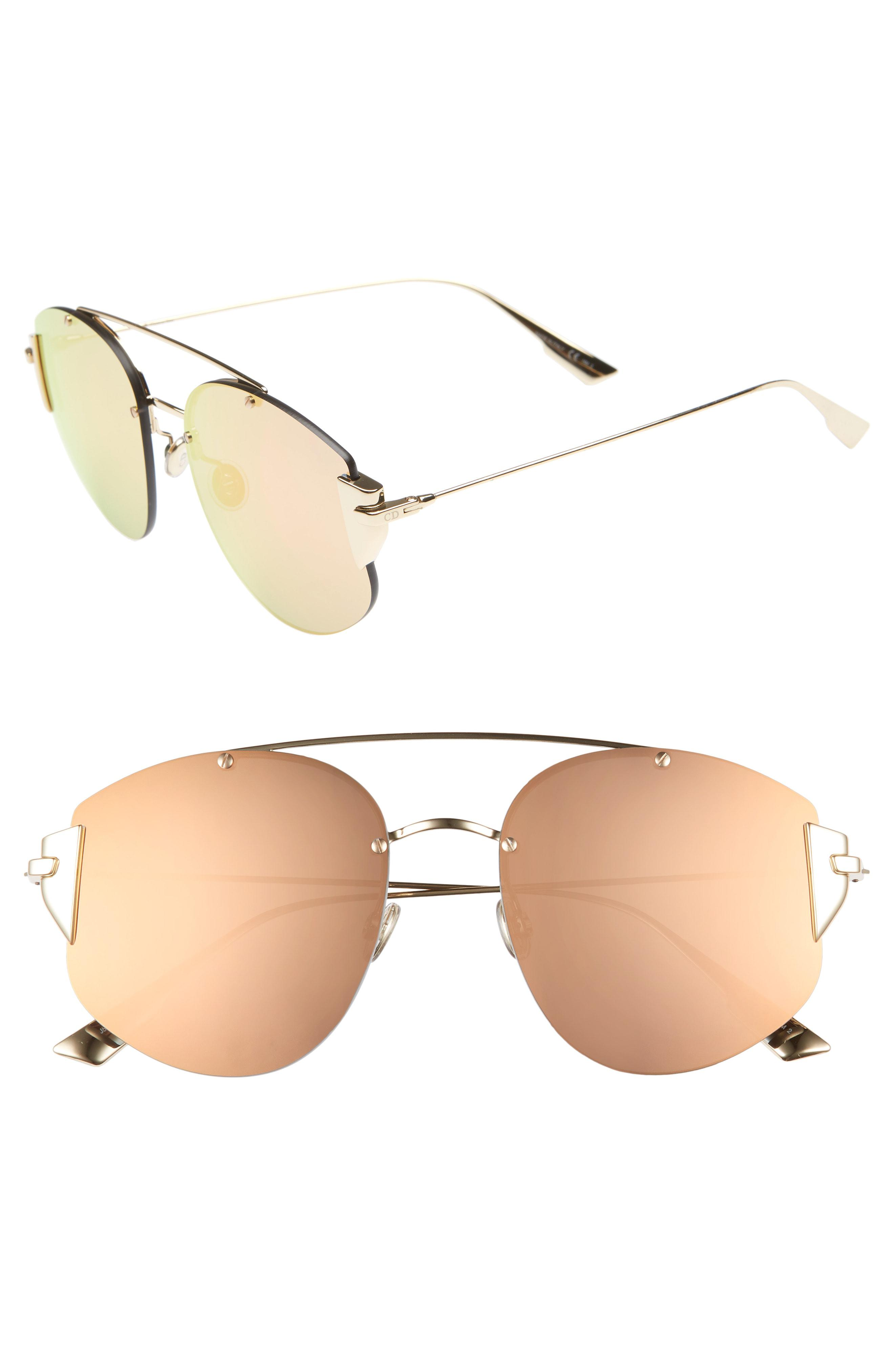 c2e388e4cb7 Dior. Women s Christian Stronger 58mm Rounded Aviator Sunglasses -