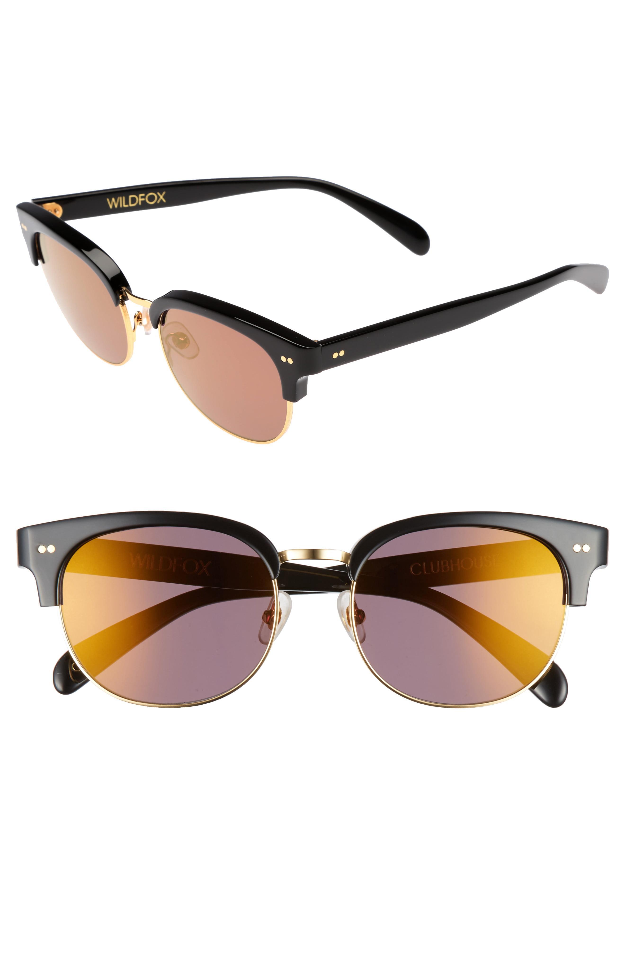 563b784d231e2 Lyst - Wildfox Clubhouse 50mm Semi-rimless Sunglasses - in Blue