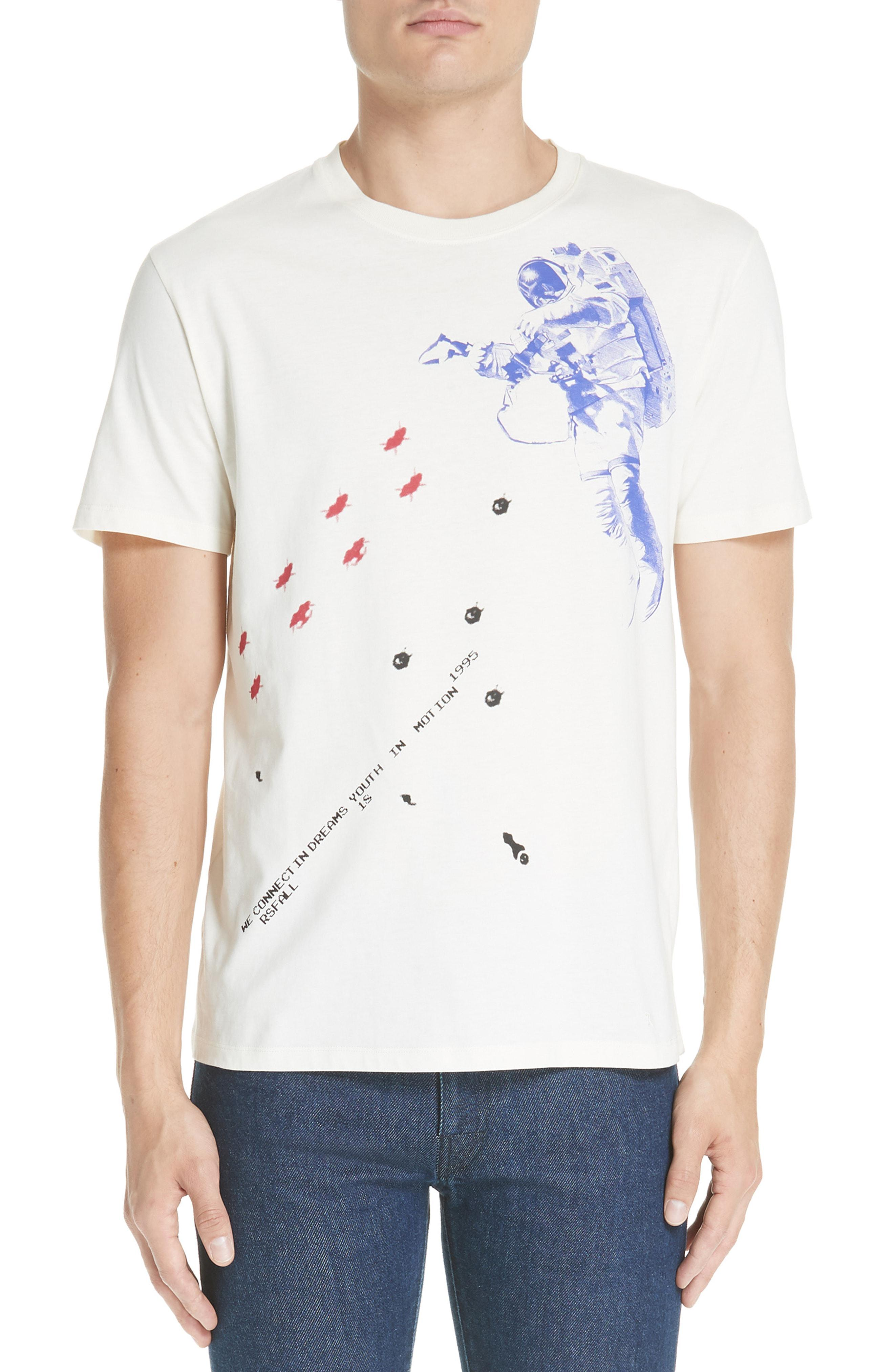 60b52d962 Lyst - Raf Simons Slim Fit Astronaut Graphic T-shirt in White for Men
