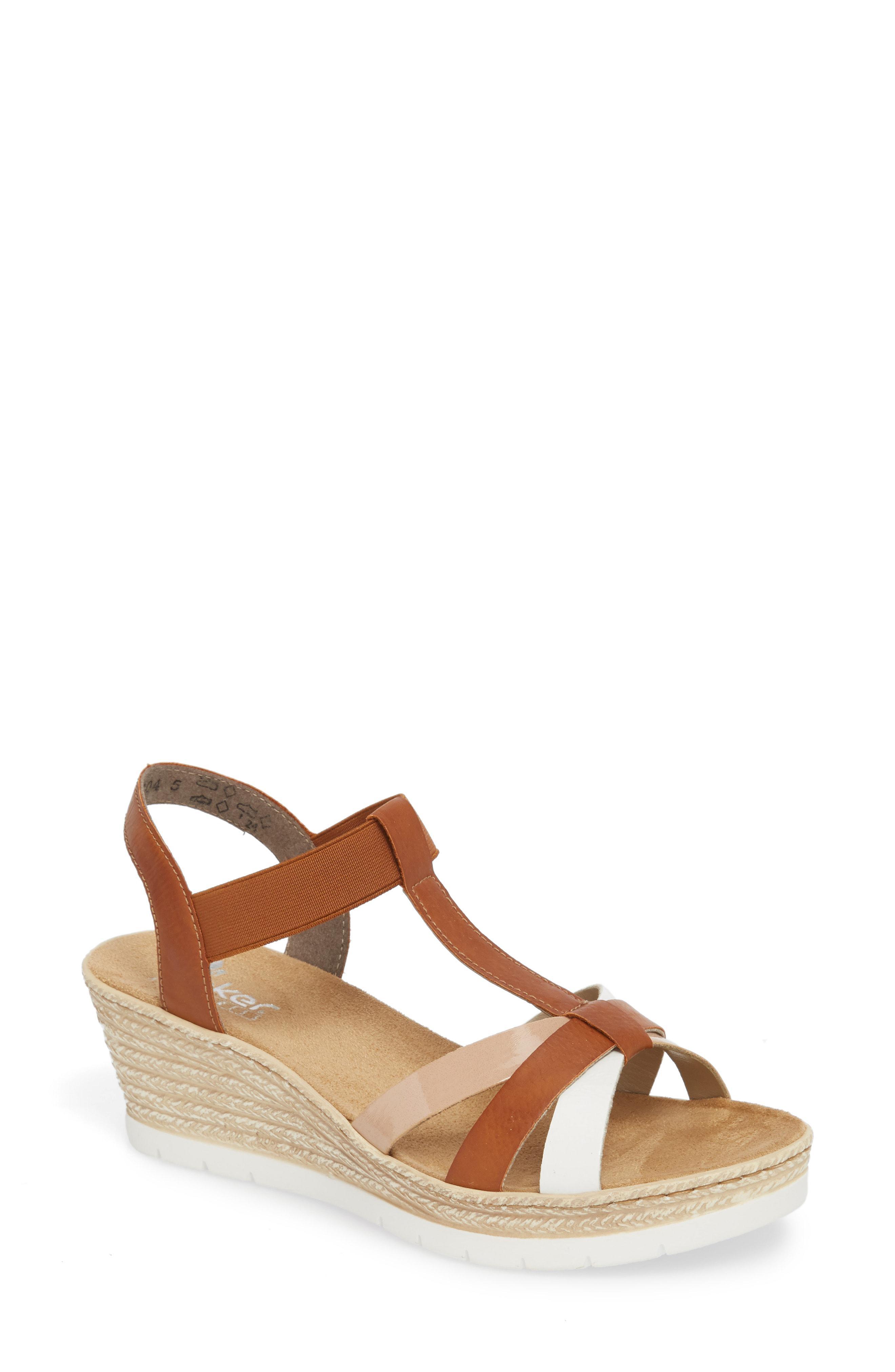 baacd1b2284 Rieker Antistress Fanni 95 Espadrille Wedge Sandal in Brown - Lyst