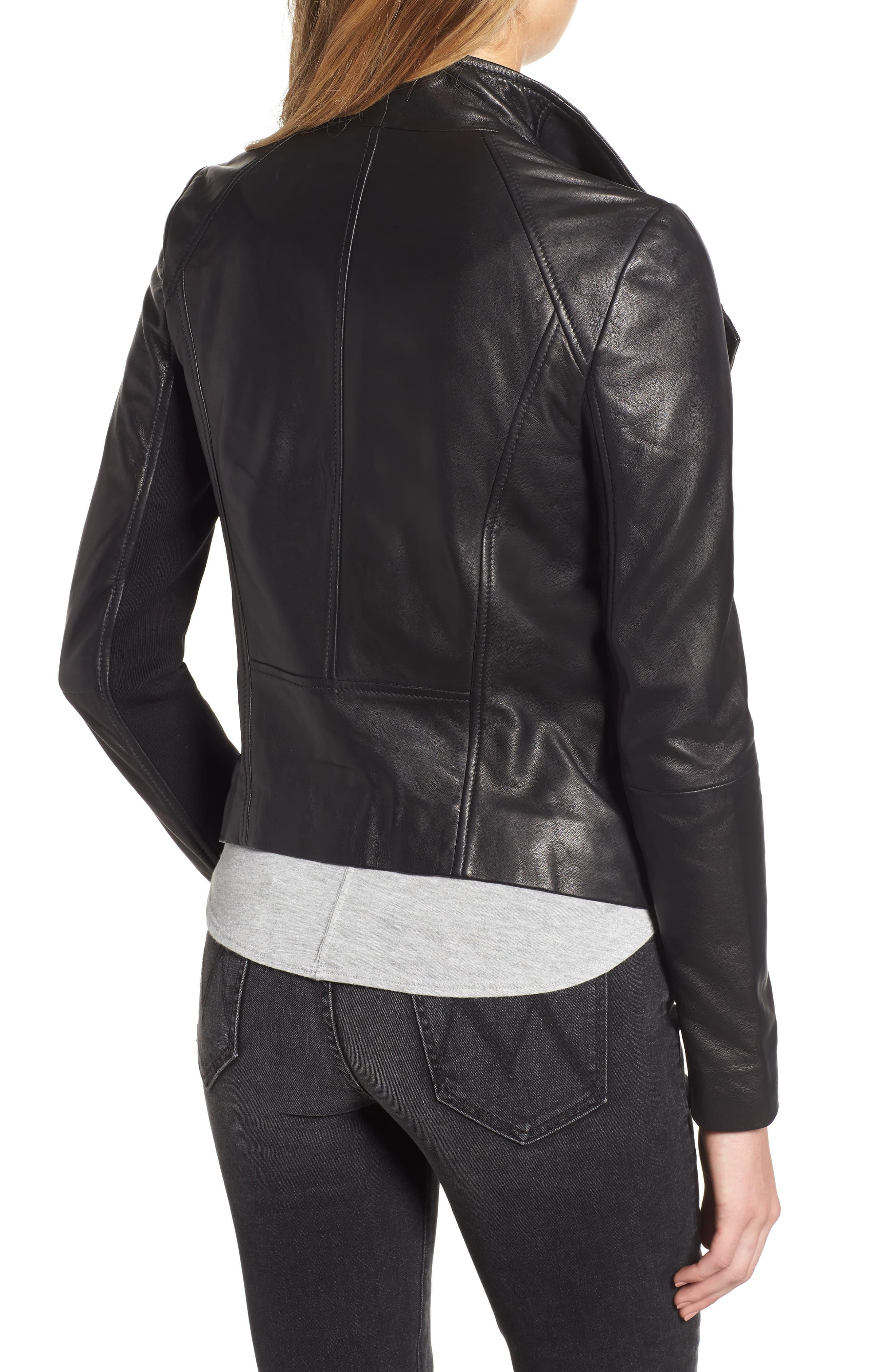eb2f9009013 Chelsea28 Black Leather Moto Jacket. View fullscreen