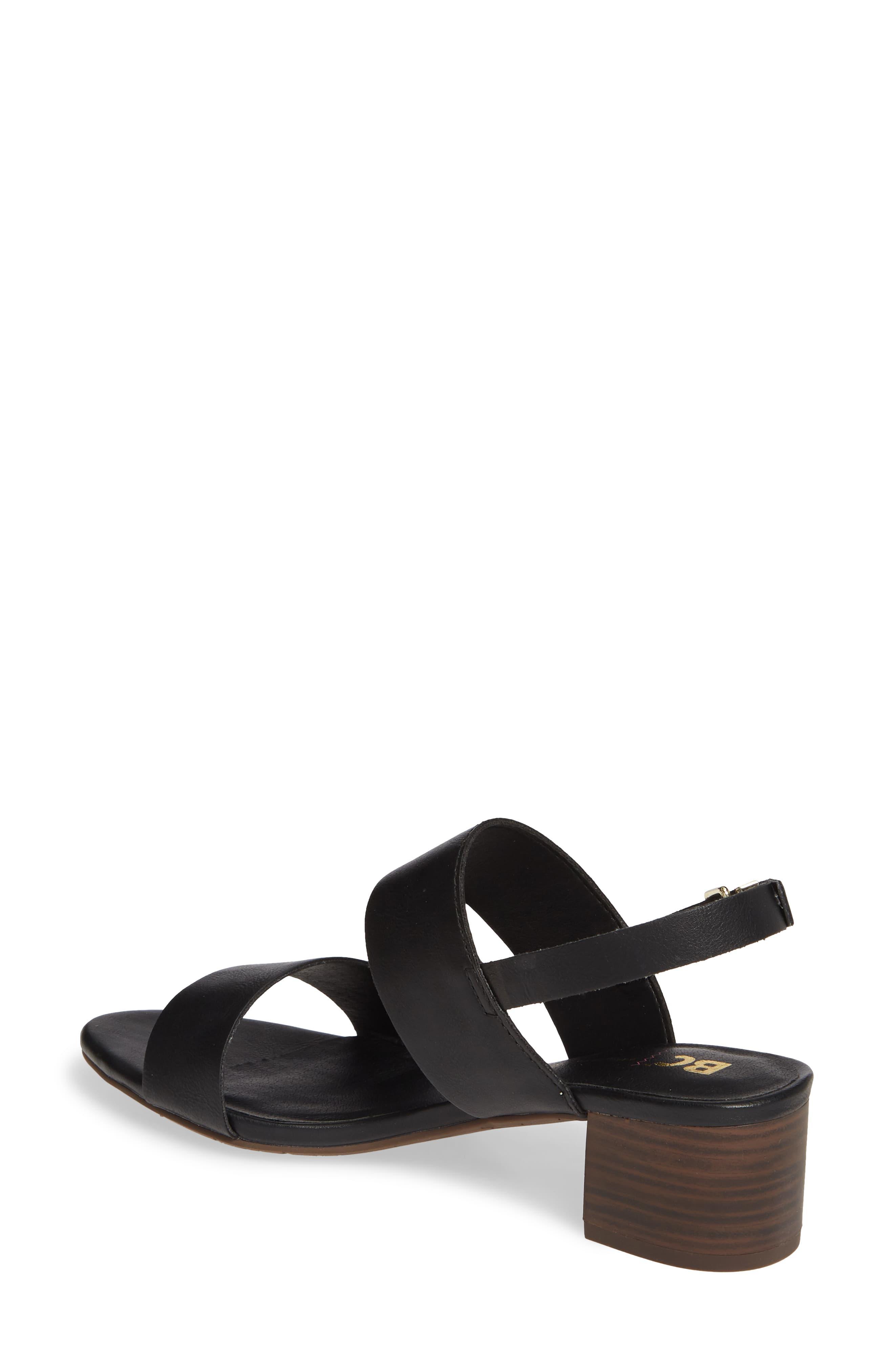 4231ce9f677b BC Footwear Gardenia Vegan Leather Sandal in Black - Lyst