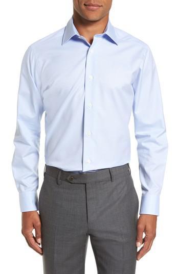 Lyst David Donahue Slim Fit Check Dress Shirt In Blue
