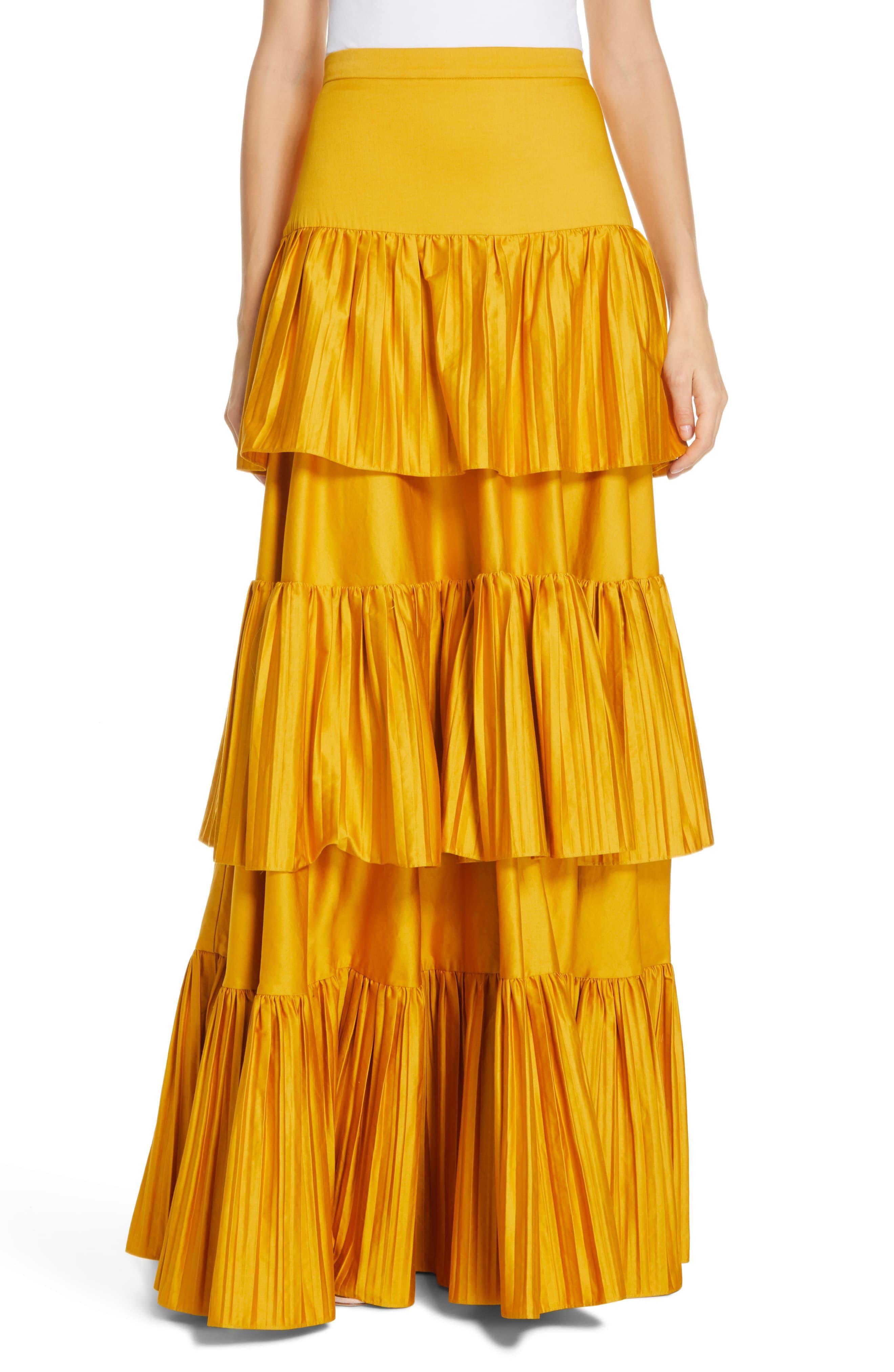 1cd290dcb5 AMUR Mila Skirt in Yellow - Lyst