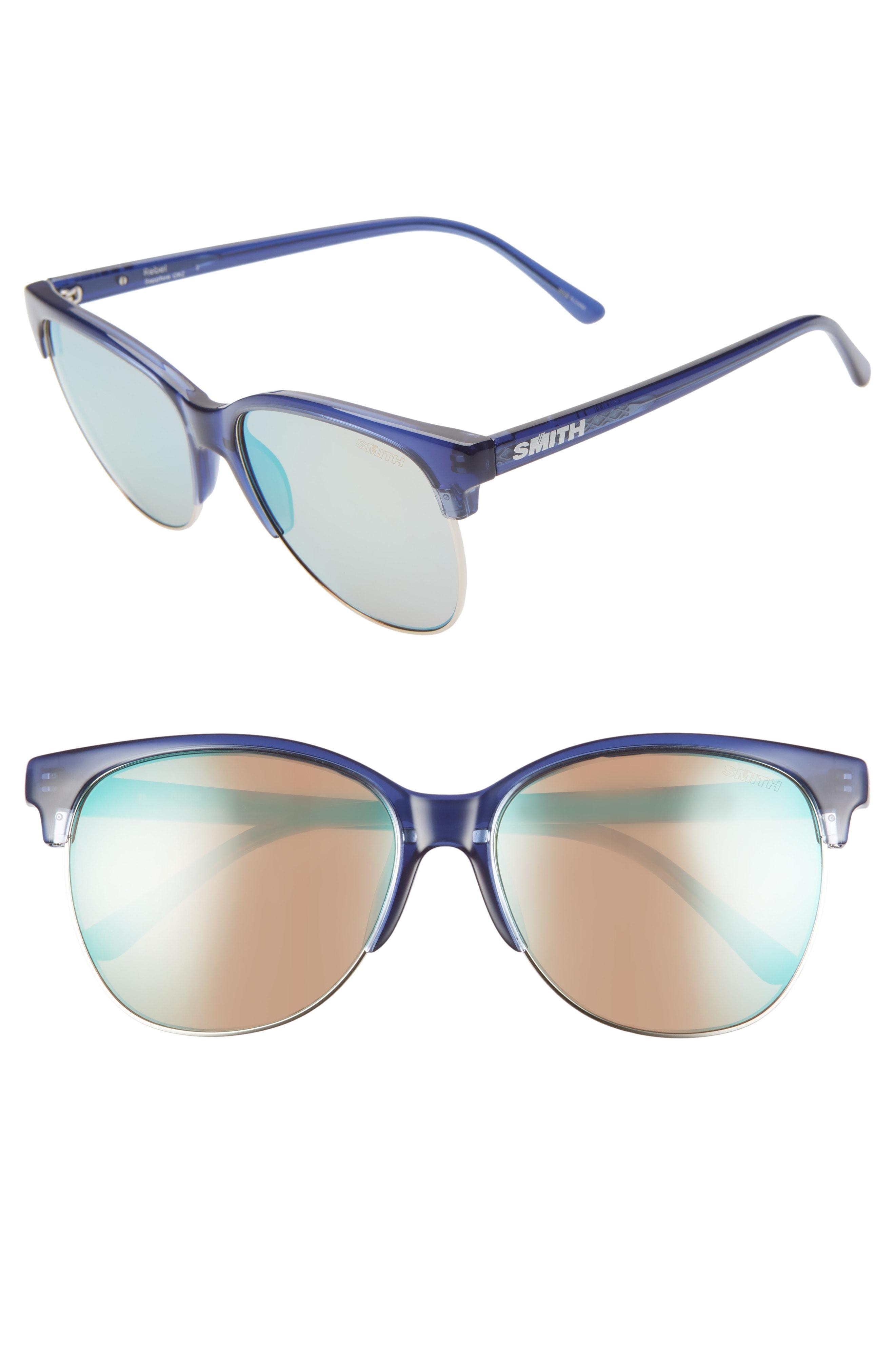 b1fc020643 Lyst - Smith Rebel 58mm Chromapop(tm) Polarized Cat Eye Sunglasses ...