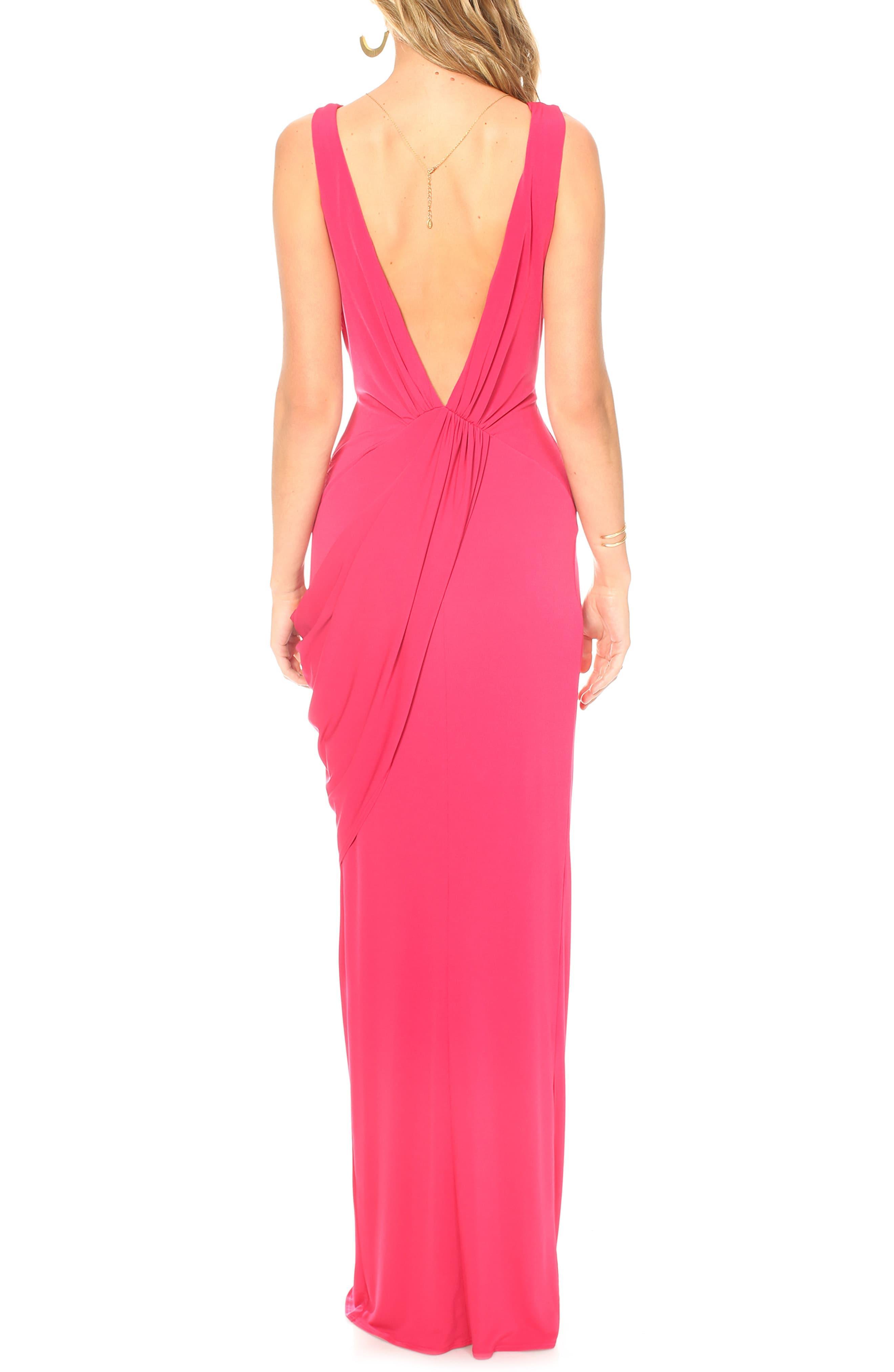 f4f20ffc3dd Katie May - Red Leo Twist Front Evening Dress - Lyst. View fullscreen