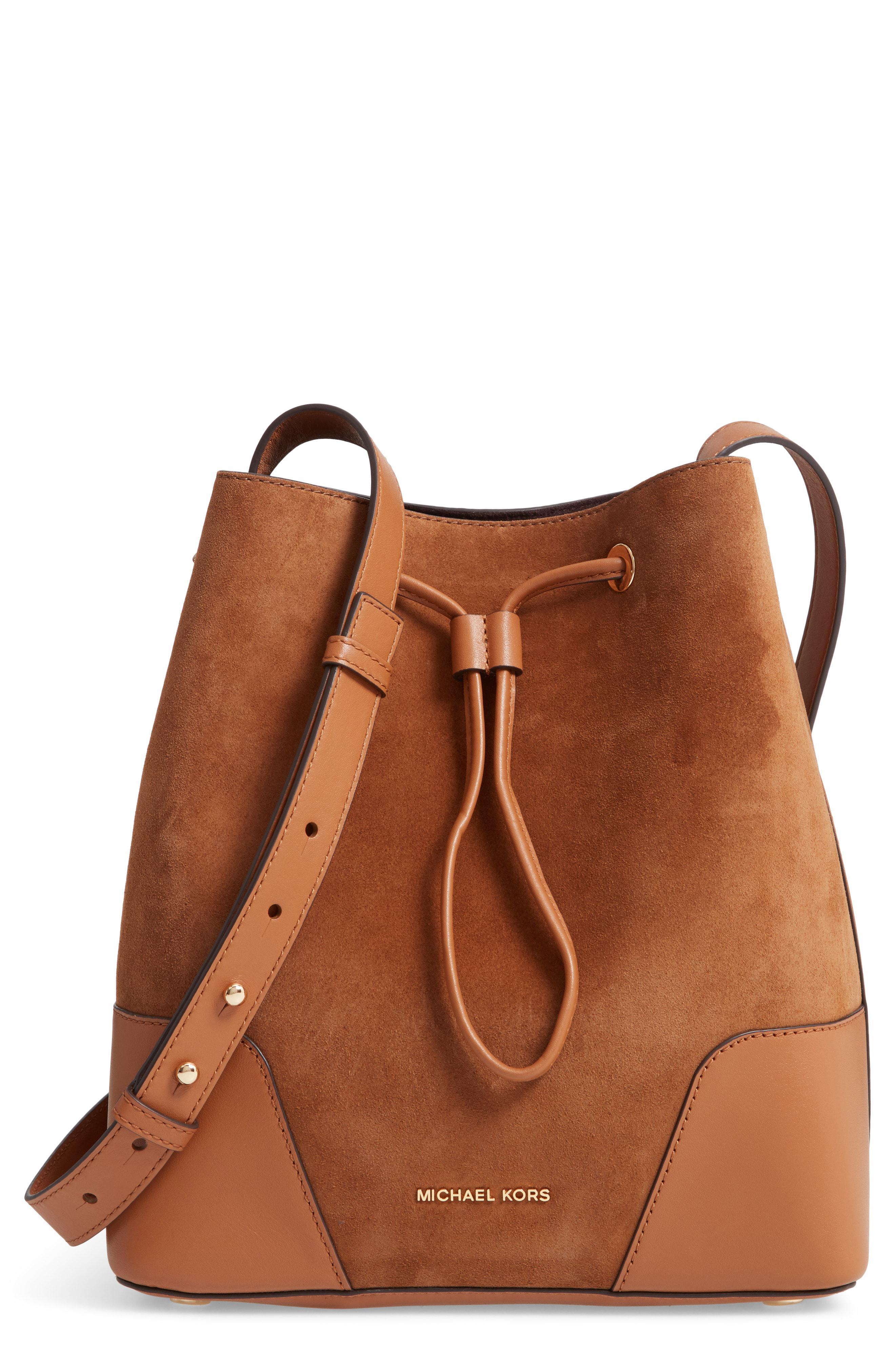 805065ab8878 Lyst - MICHAEL Michael Kors Cary Medium Bucket Bag (dark Caramel ...