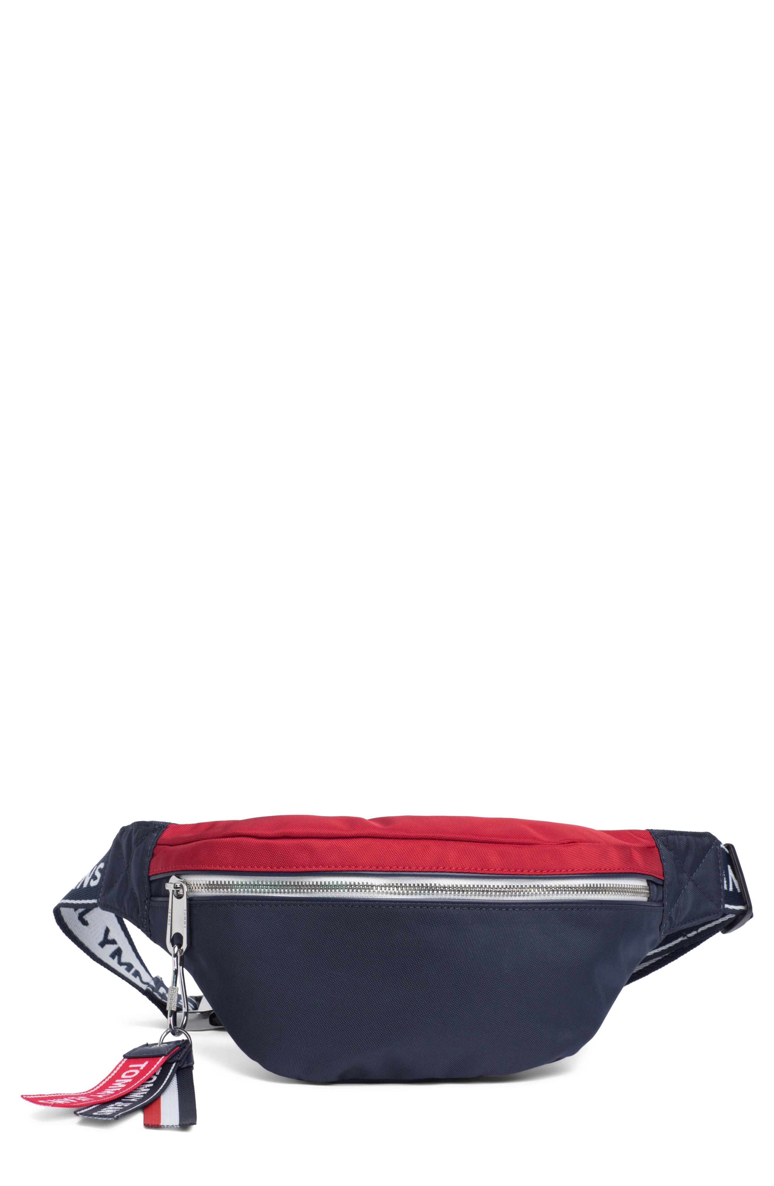b64ec715 Lyst - Tommy Hilfiger Logo Belt Bag in Red