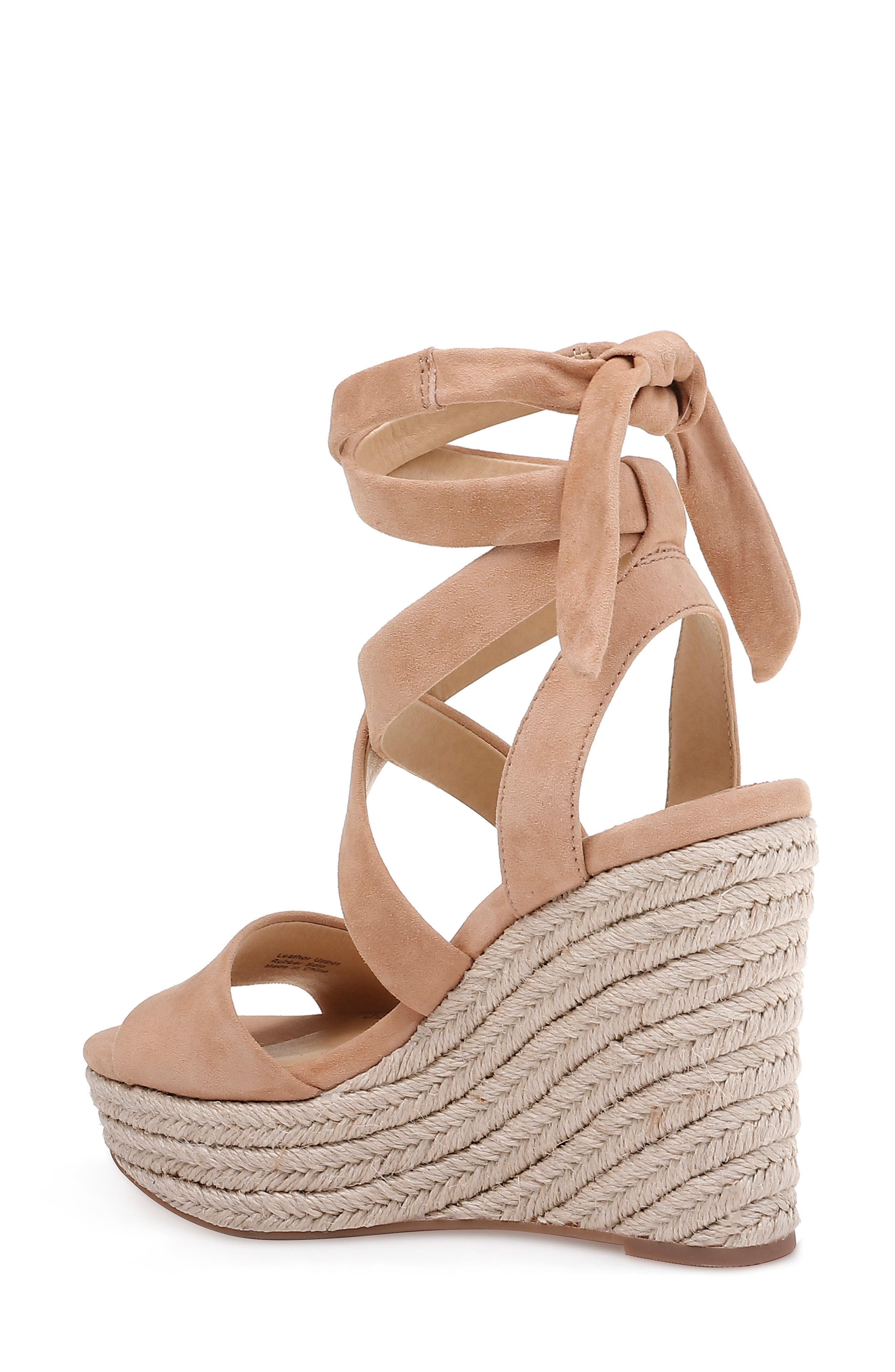 6ee9de8b53cf Splendid - Brown Women s Tessie Ankle-tie Wedge Sandals - Lyst. View  fullscreen
