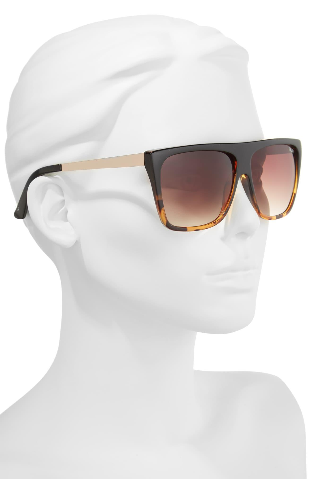 6a058e8c01060 Quay - X Desi Perkins On The Low 60mm Square Sunglasses - Tort  Brown -.  View fullscreen