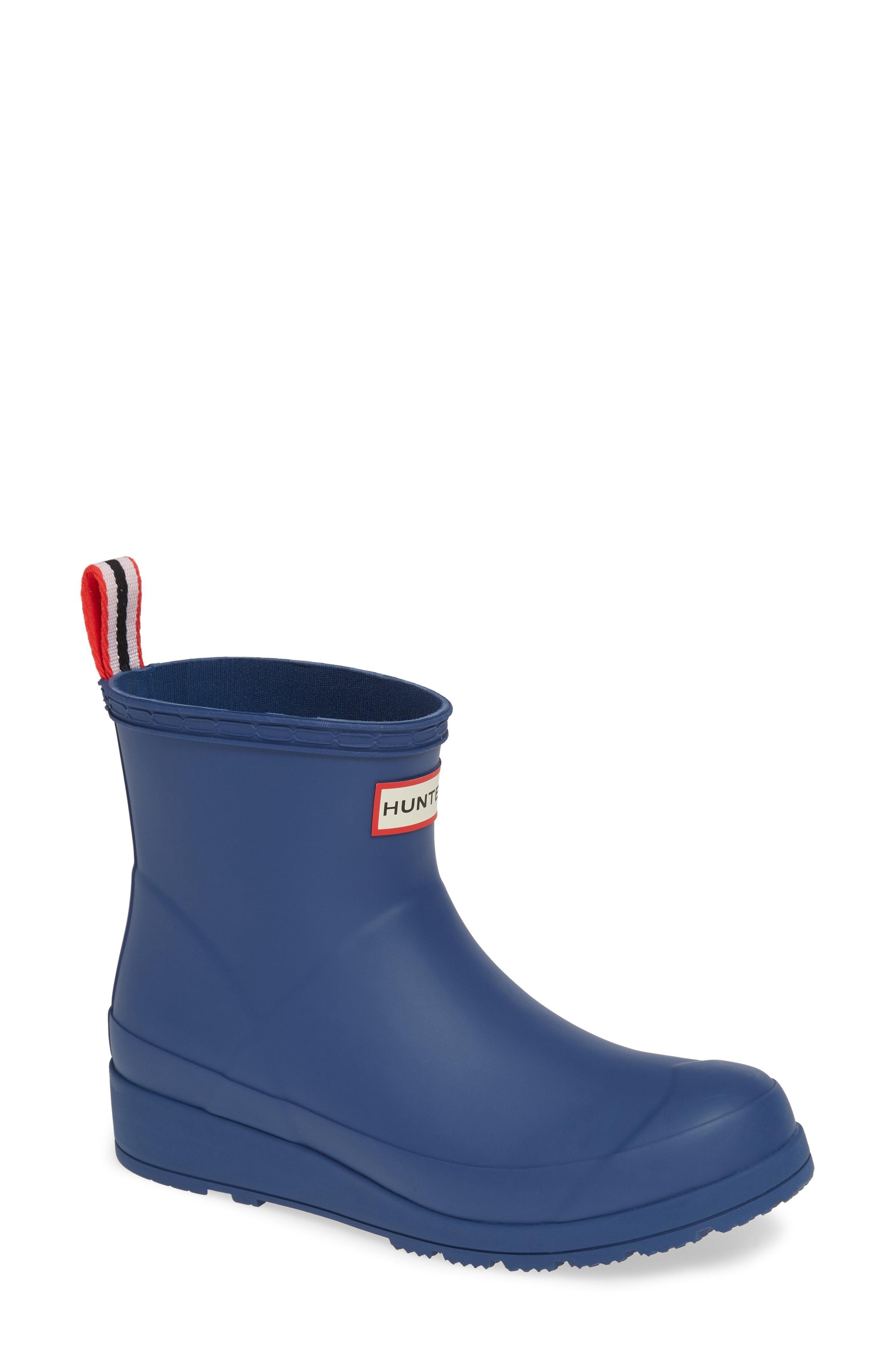 0d07e0c379b Lyst - Hunter Original Play Waterproof Rain Bootie in Blue