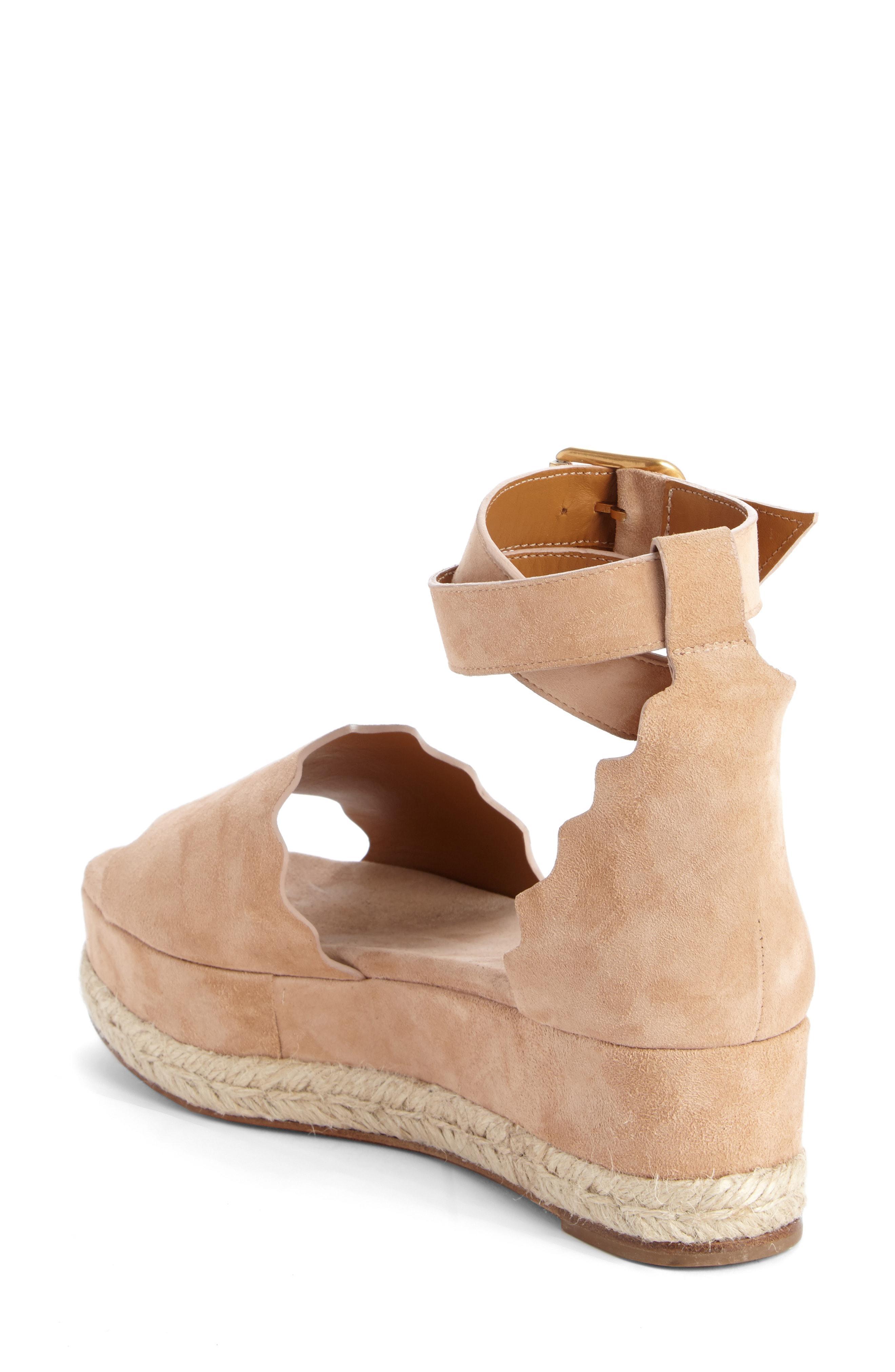 00282f8d98f3 Lyst - Chloé Lauren Espadrille Wedge Sandal in Brown