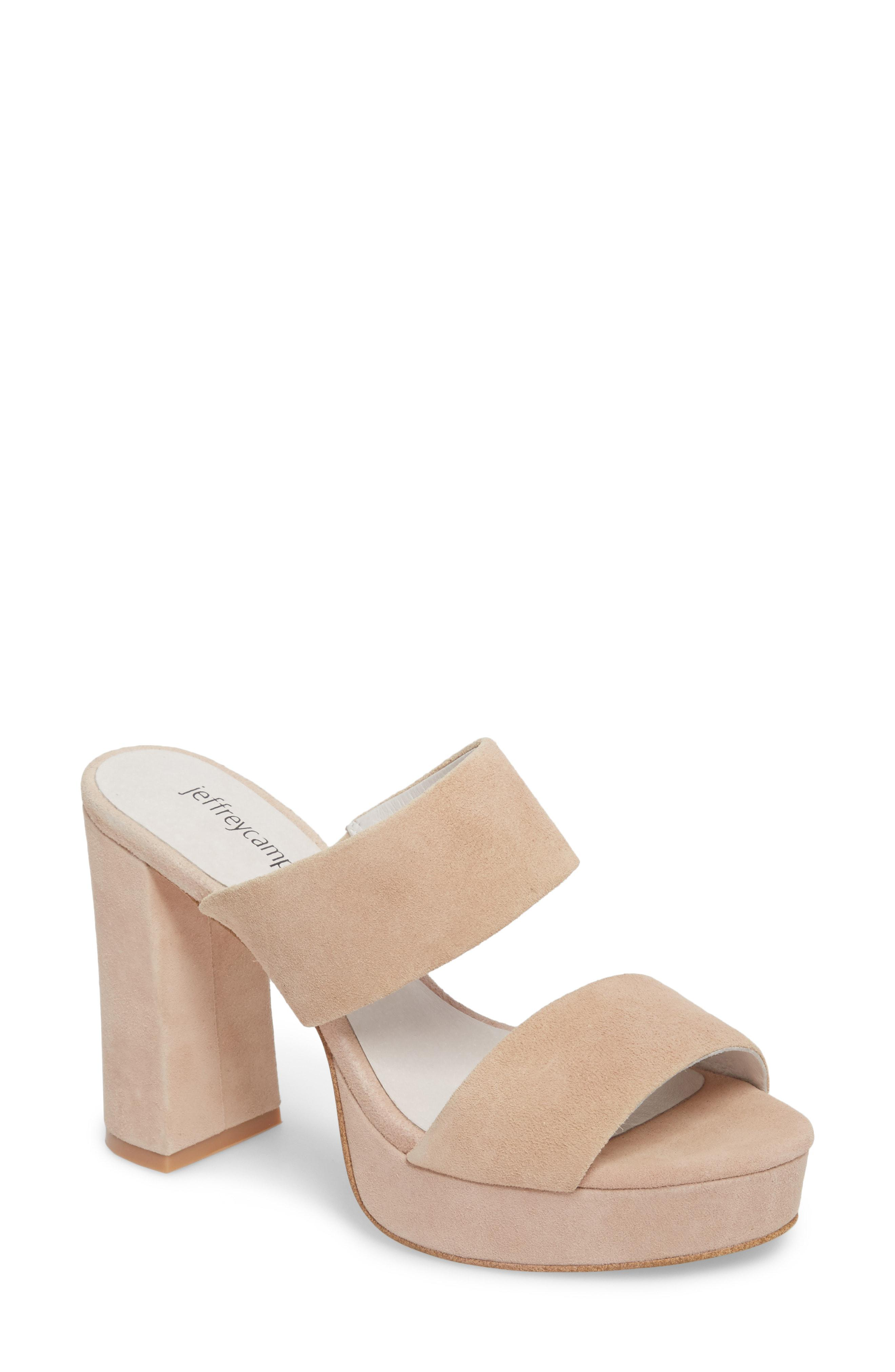 902faa170be3 Lyst - Jeffrey Campbell Adriana Double Band Platform Sandal in Pink