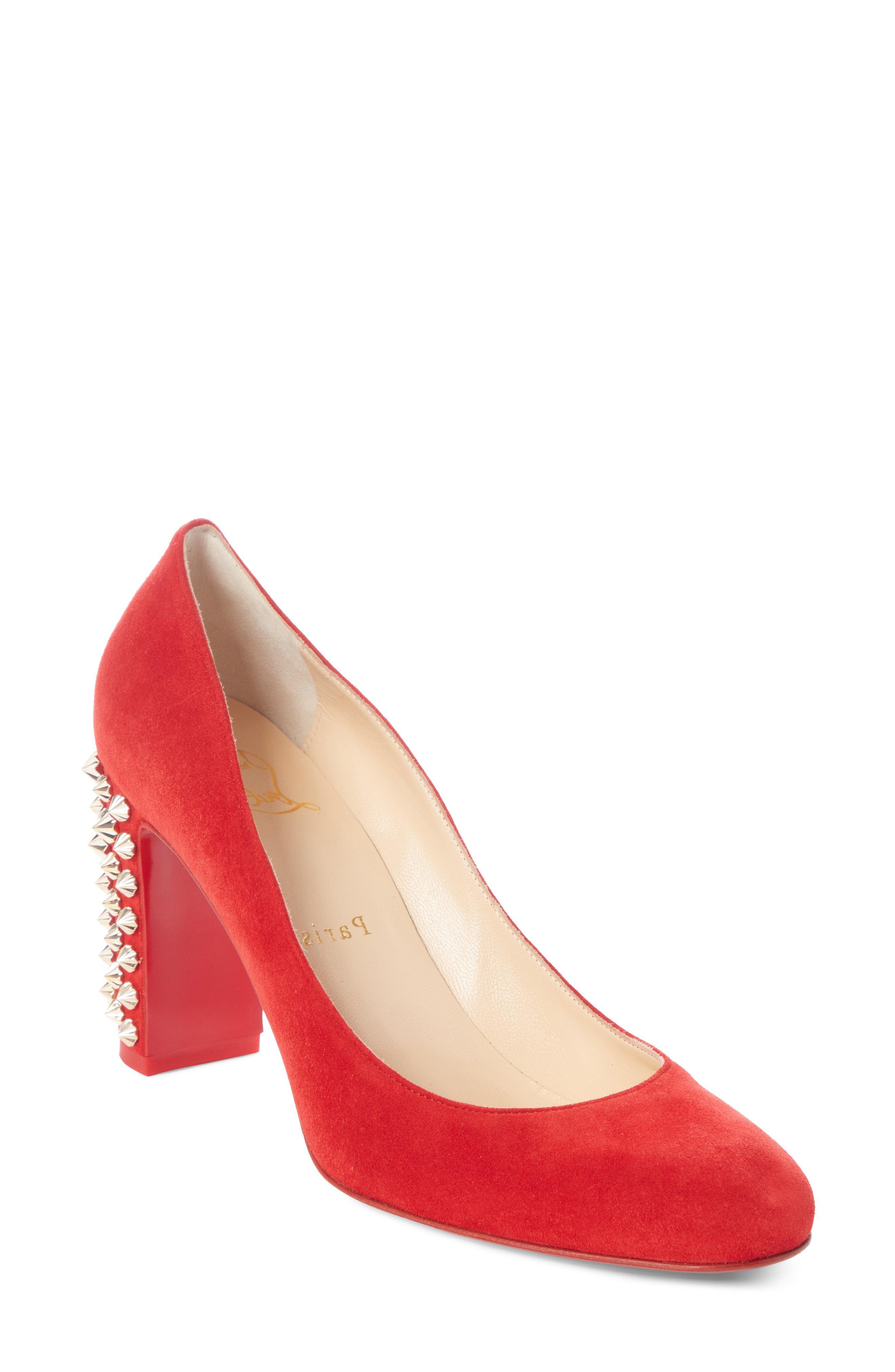 4571492f4bd Lyst - Christian Louboutin Marimalus Spike Heel Pump in Red