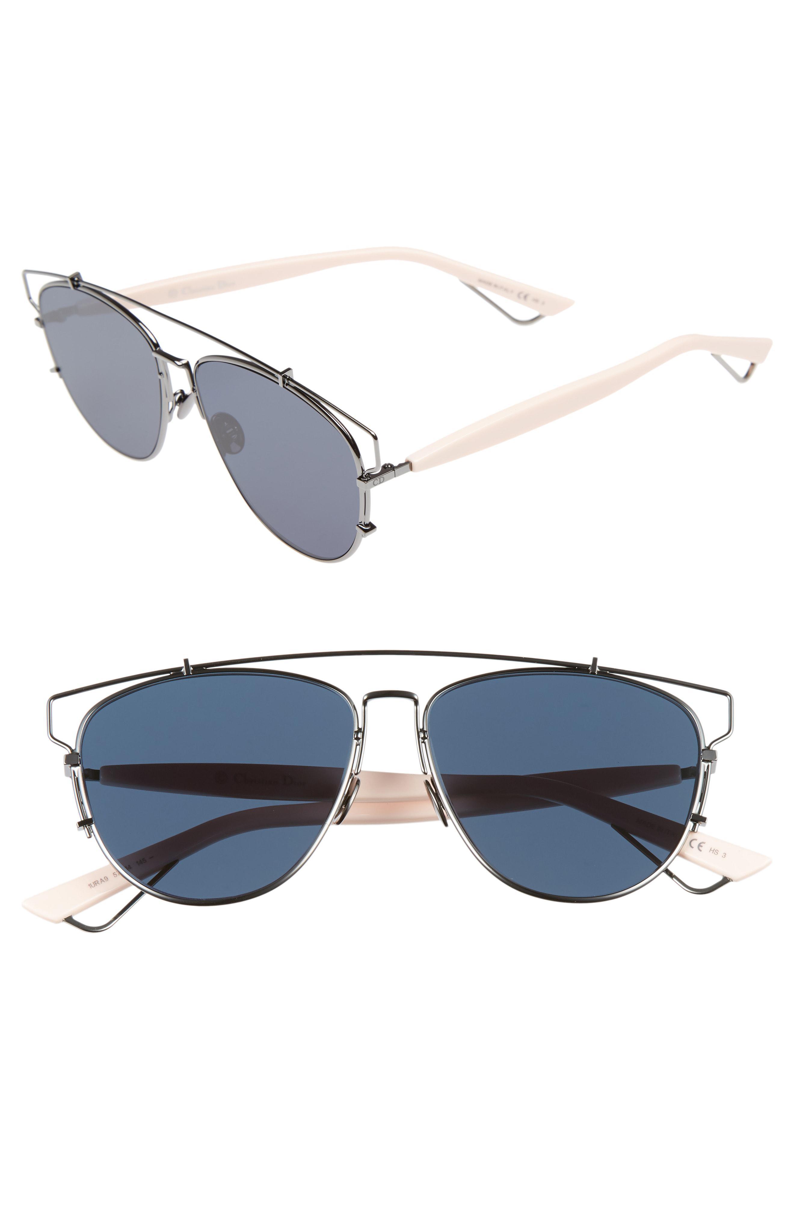 ecce2b29b8fb Lyst - Dior Technologic 57mm Brow Bar Sunglasses - Dark Ruthenium ...