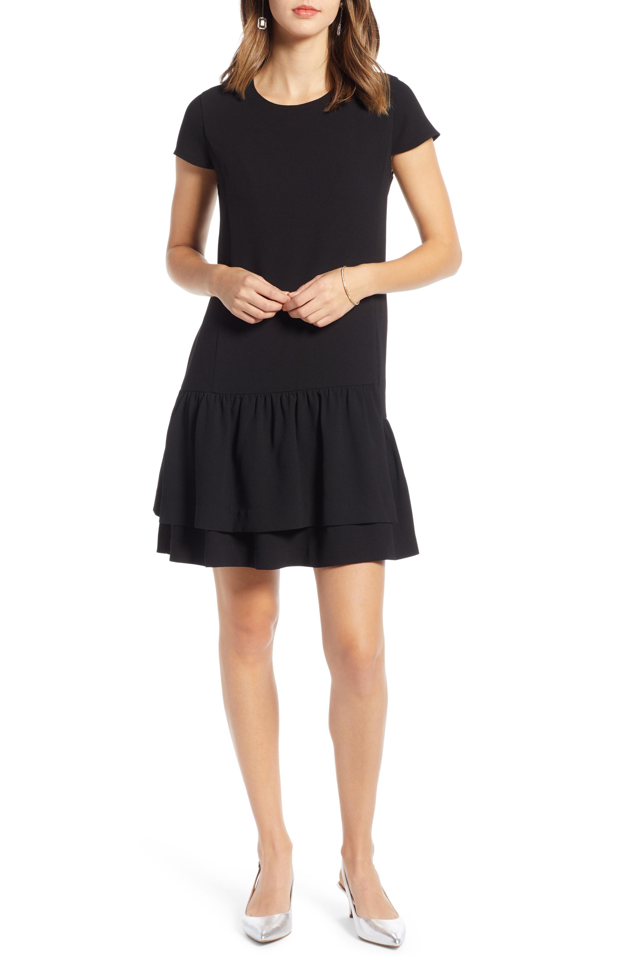962e59d4fbc Lyst - Nordstrom 1901 Ruffle Hem Dress in Black