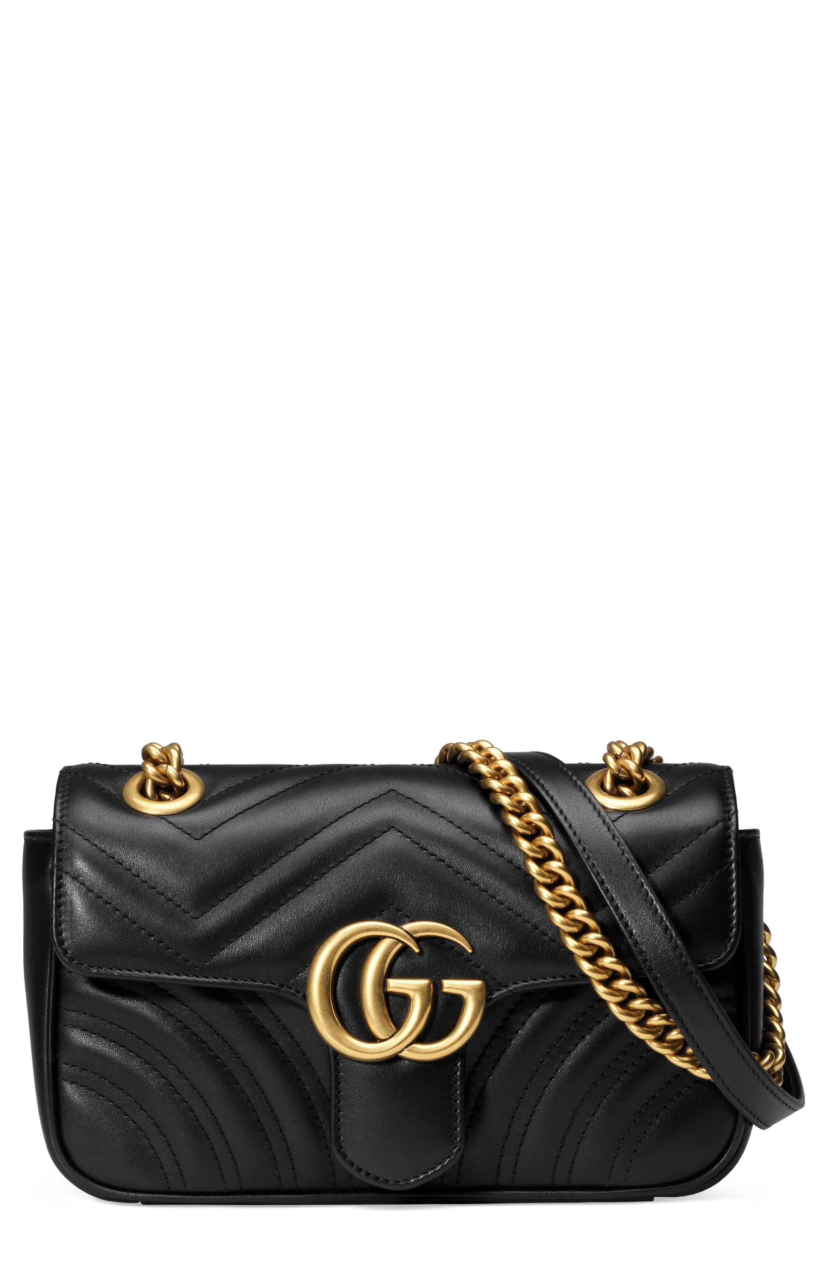 Gucci Leather Gg Marmont 2 0 Mini Matelasse Shoulder Bag