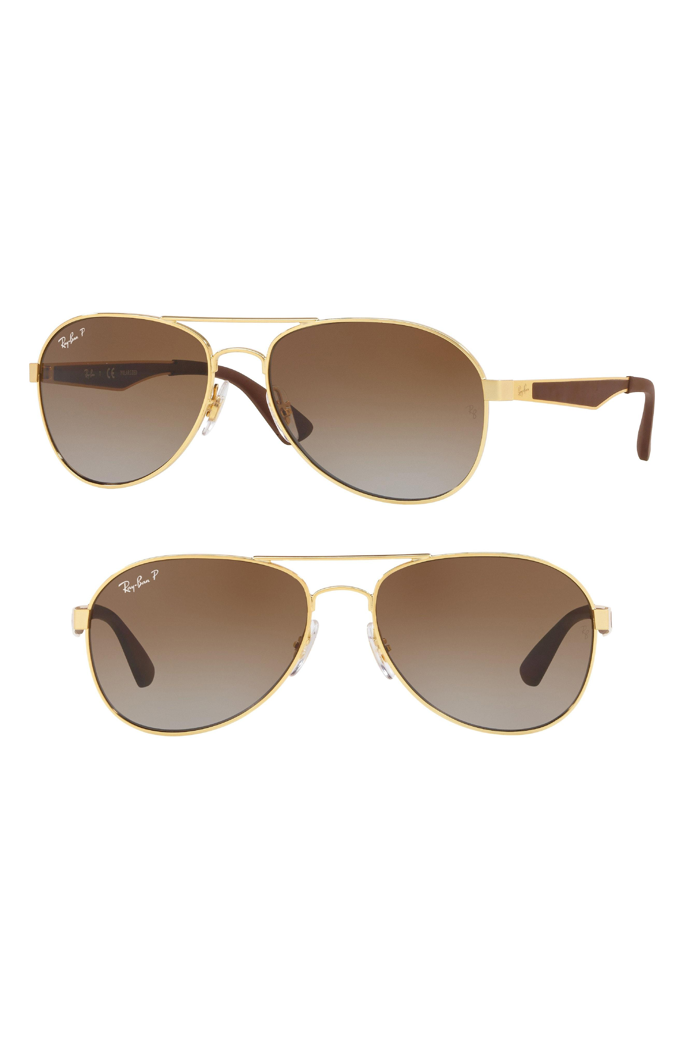 1d544ce2c7ef Lyst - Ray-Ban Active Lifestyle 61mm Polarized Pilot Sunglasses in ...