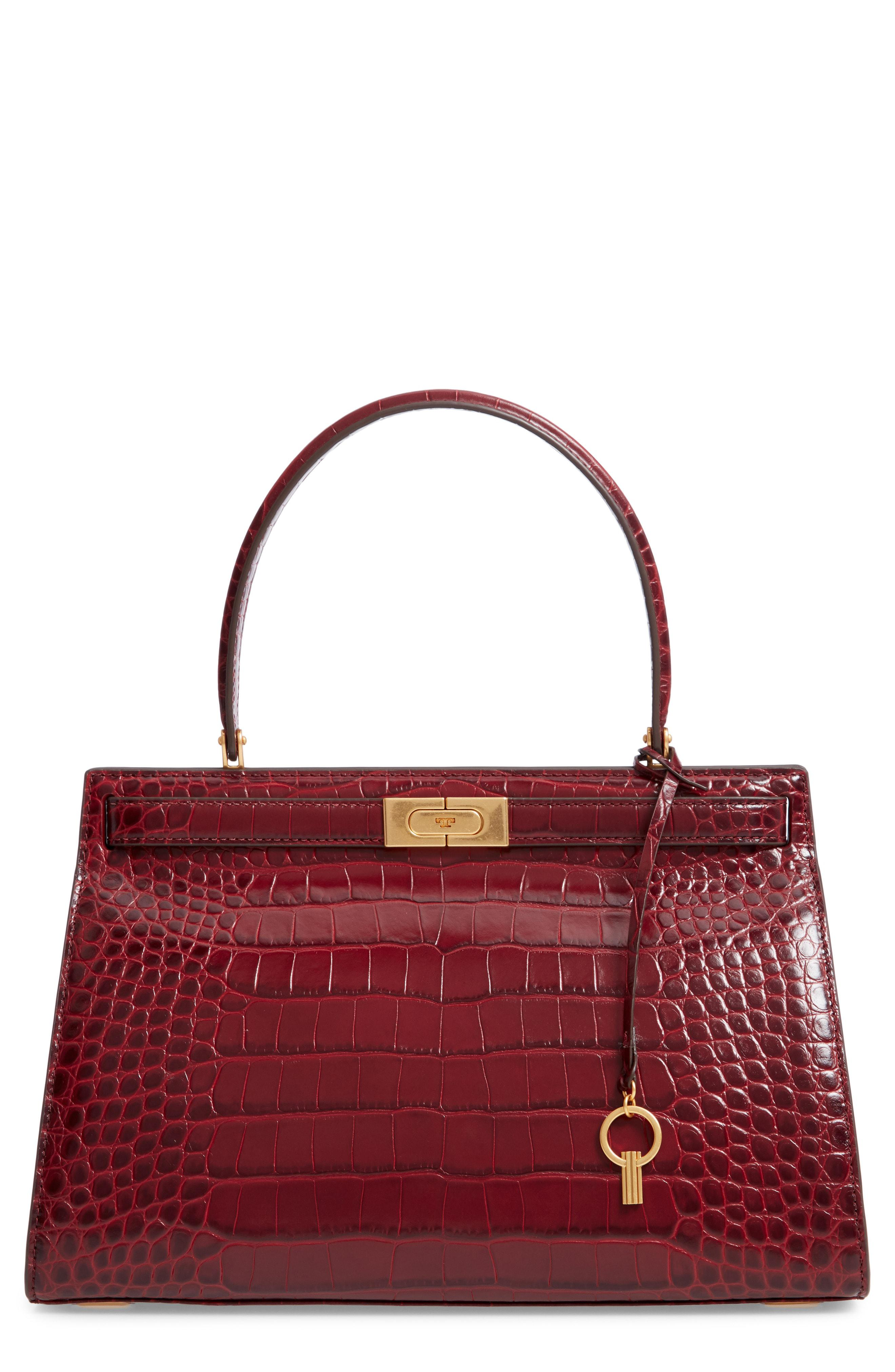 db24ad3ecec8 Lyst - Tory Burch Lee Radziwill Leather Satchel - in Red