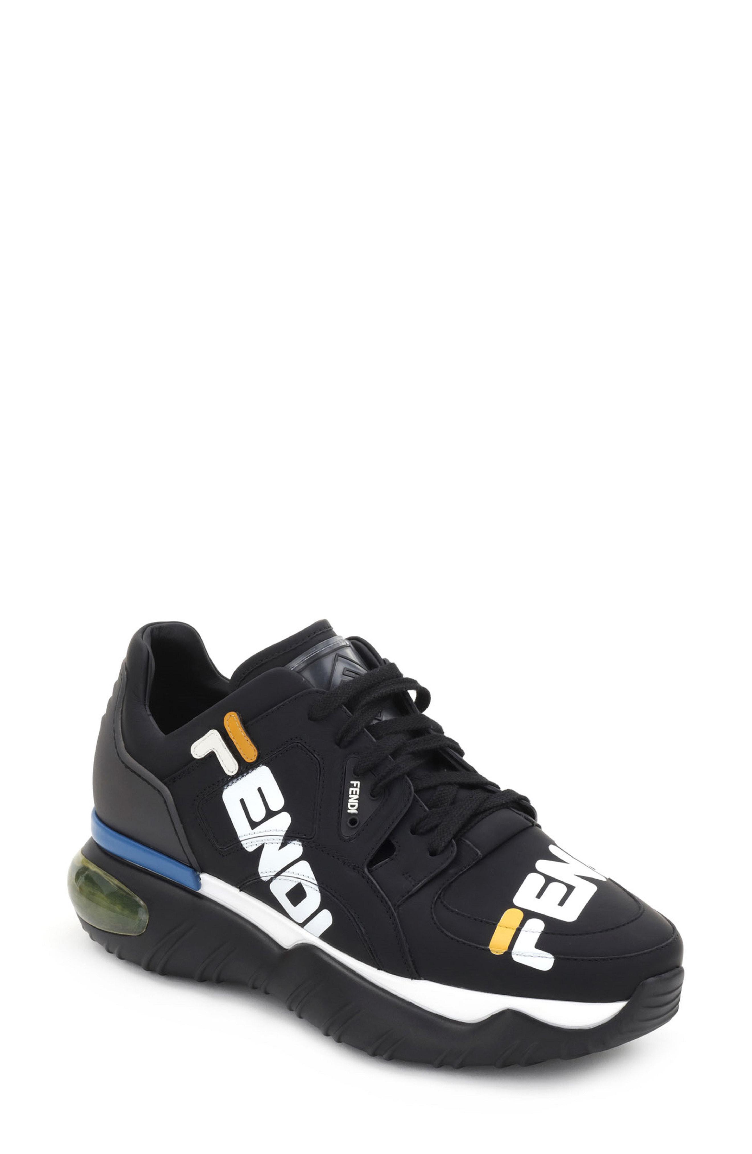 f2aa2bcd41fd Lyst - Fendi X Fila Mania Logo Sneaker in Black