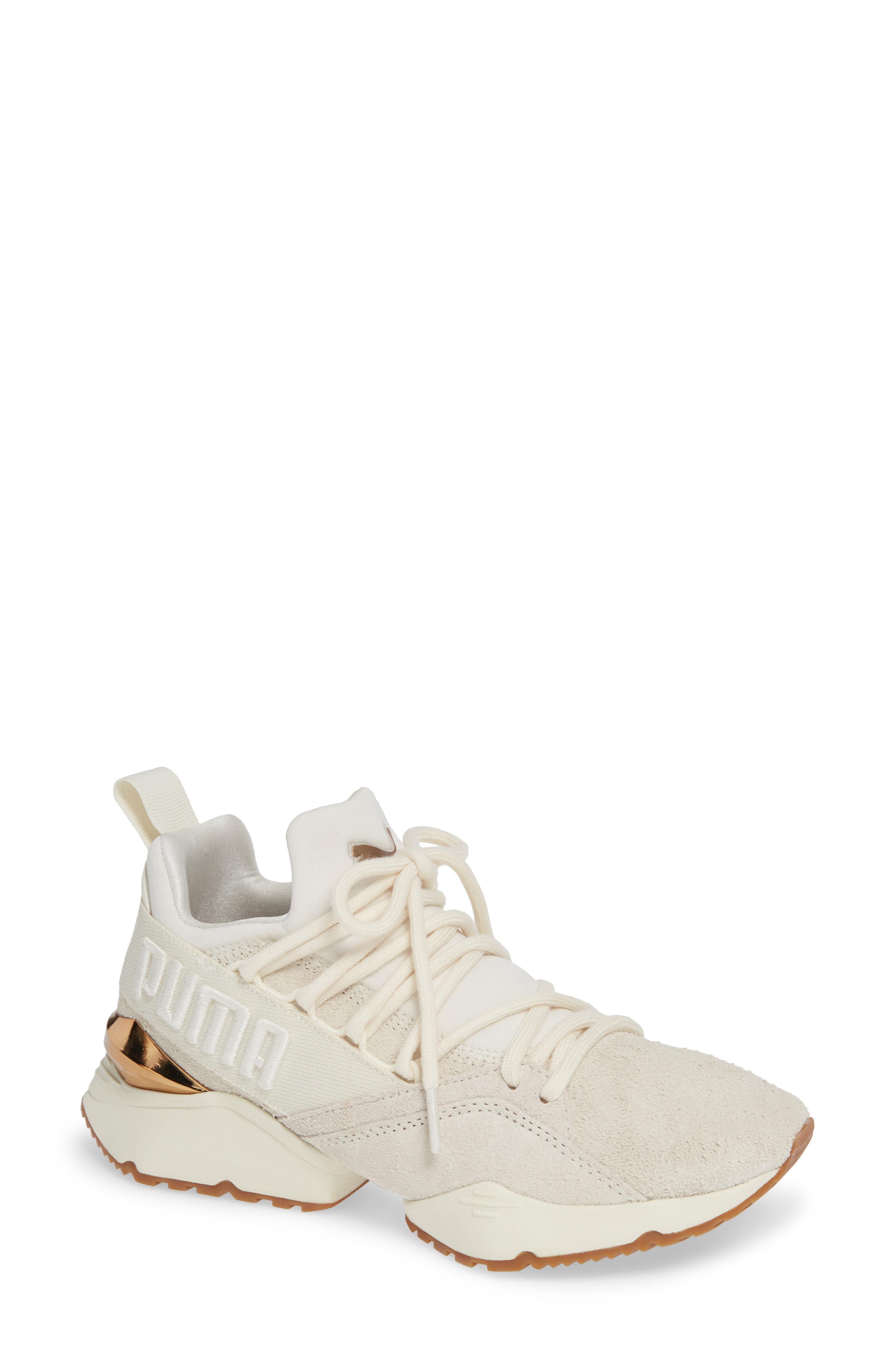 Lyst - PUMA Muse Maia Utility Sneaker in White ea29cf996