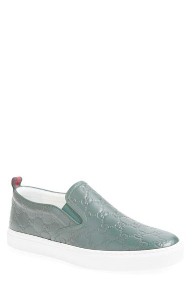 bf886a4ed4e8 Lyst - Gucci Dublin Slip-on Sneaker in Green for Men